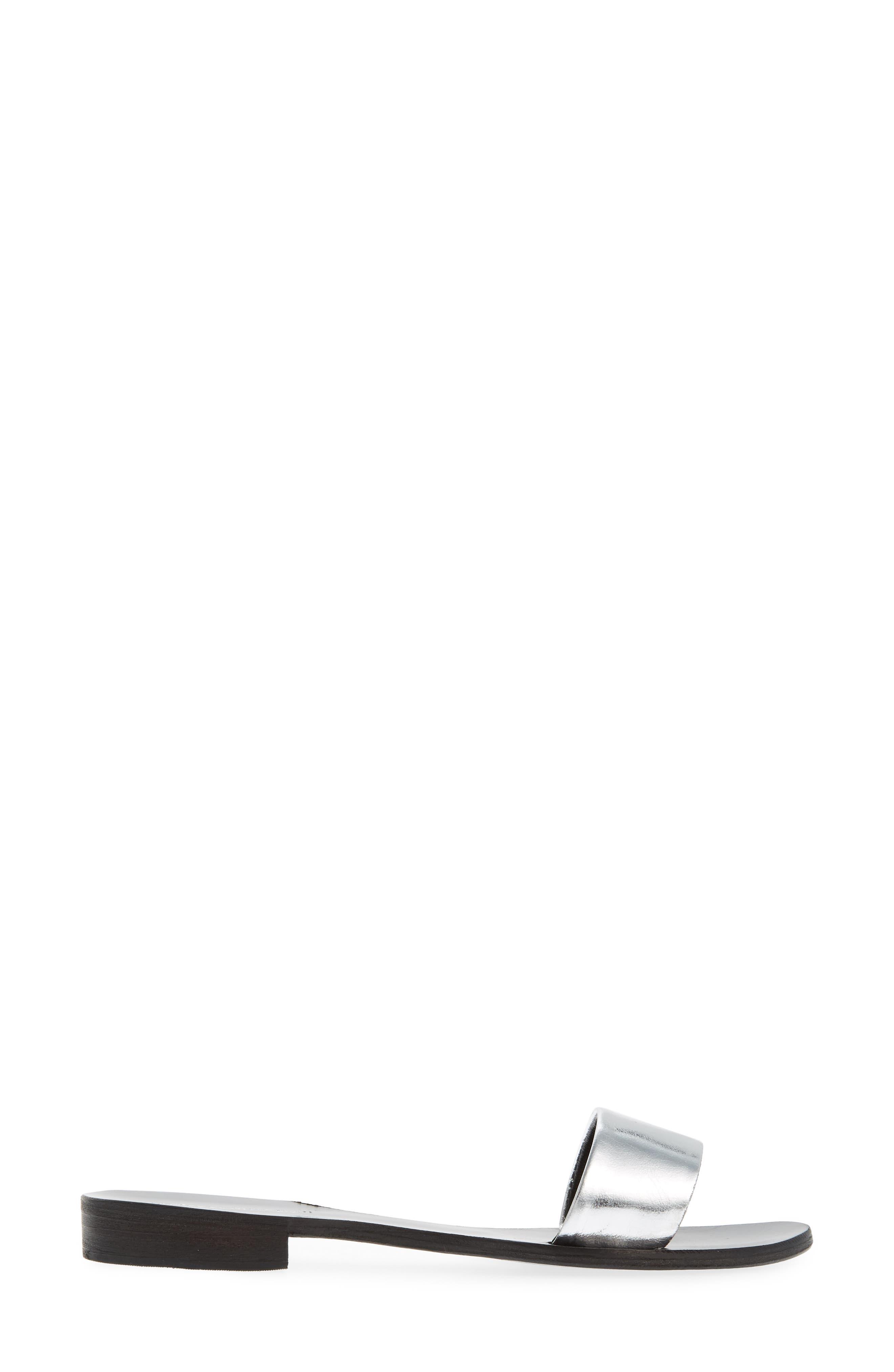 Monzon Slide Sandal,                             Alternate thumbnail 3, color,                             Silver Mirror