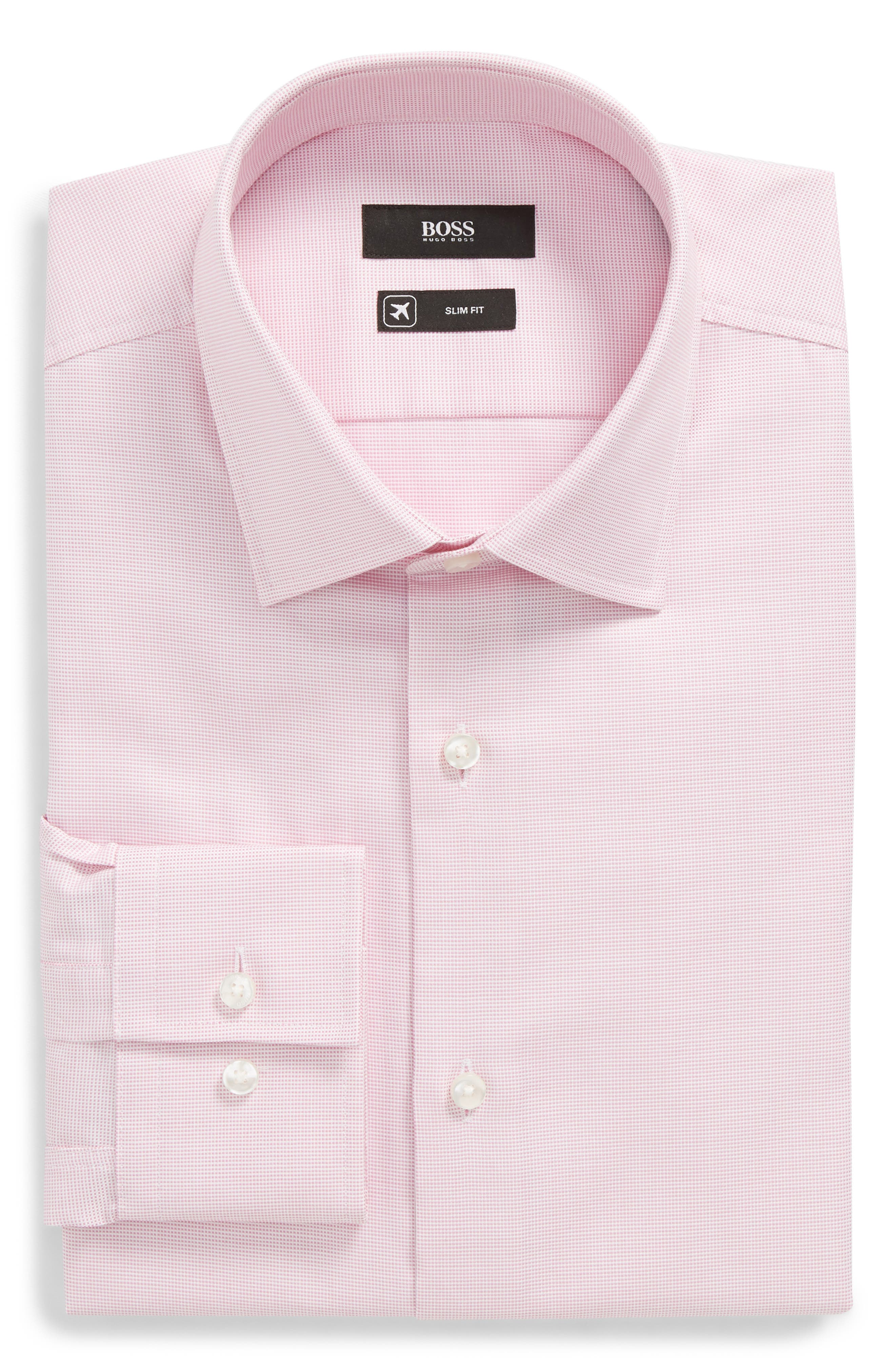 BOSS Jenno Slim Fit Solid Dress Shirt