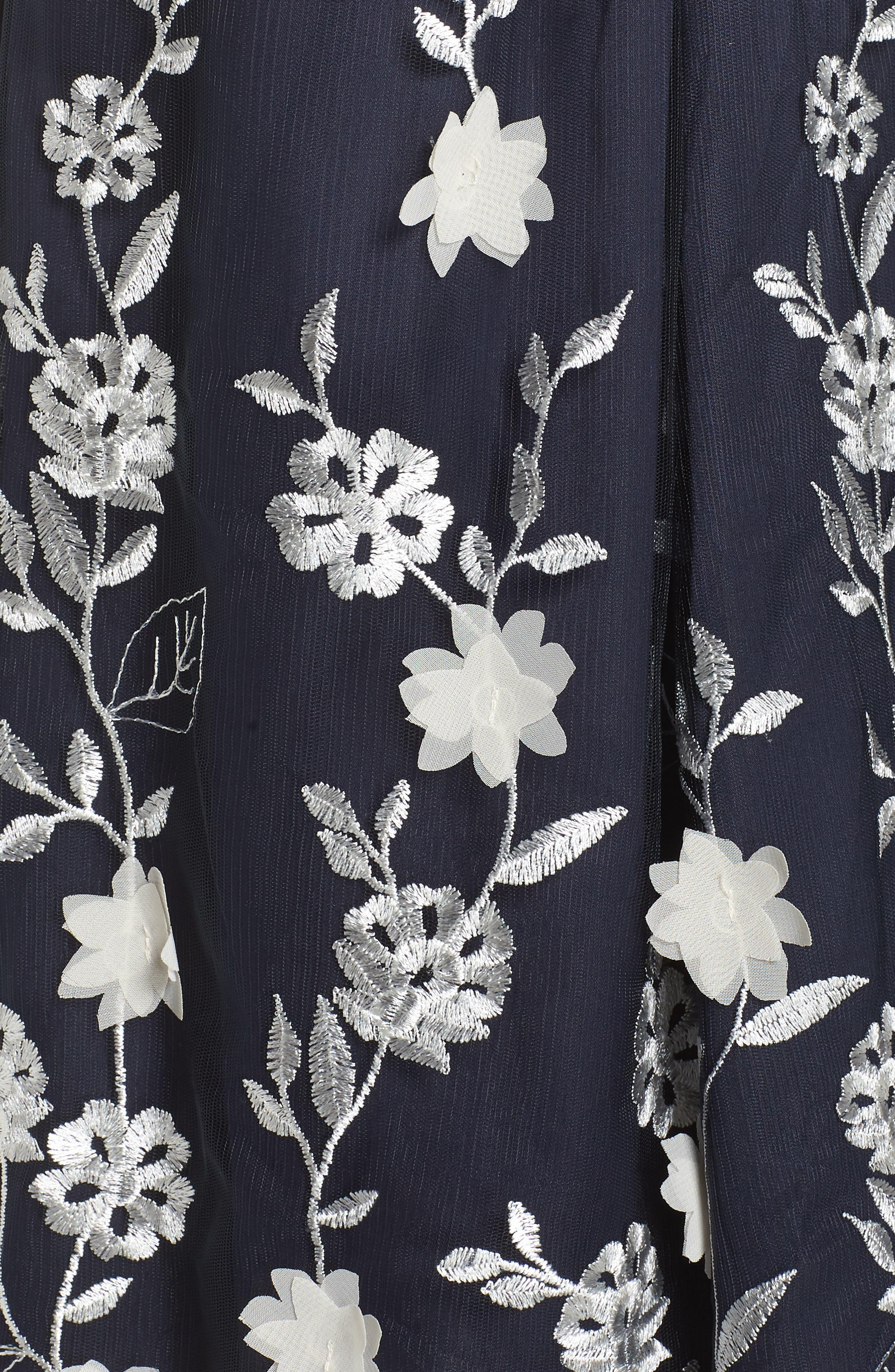 Alternate Image 5  - Eliza J Embroidered A-Line Skirt