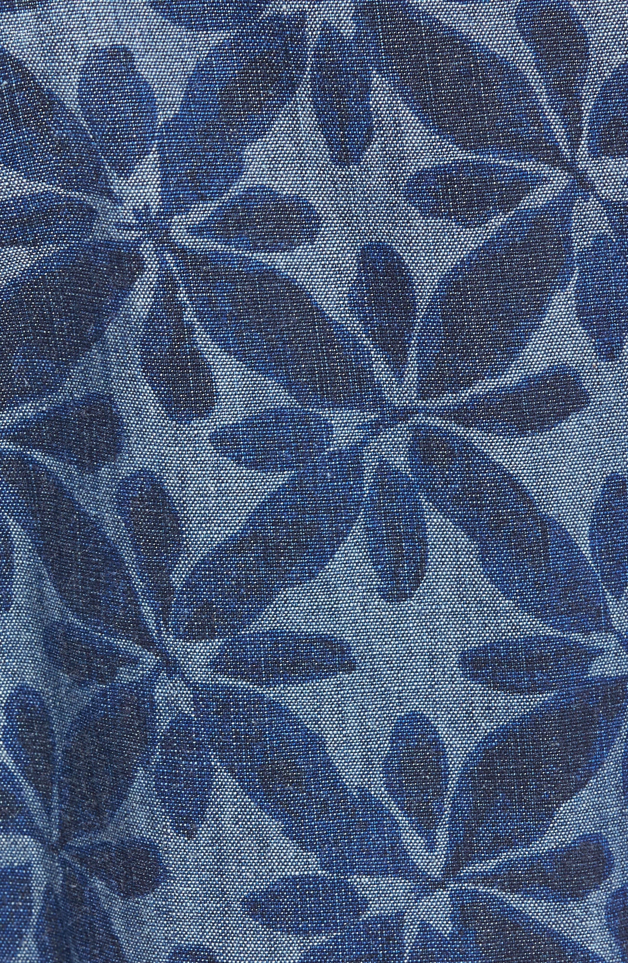 Franju Floral Cotton Shorts,                             Alternate thumbnail 5, color,                             Rinse And Softener