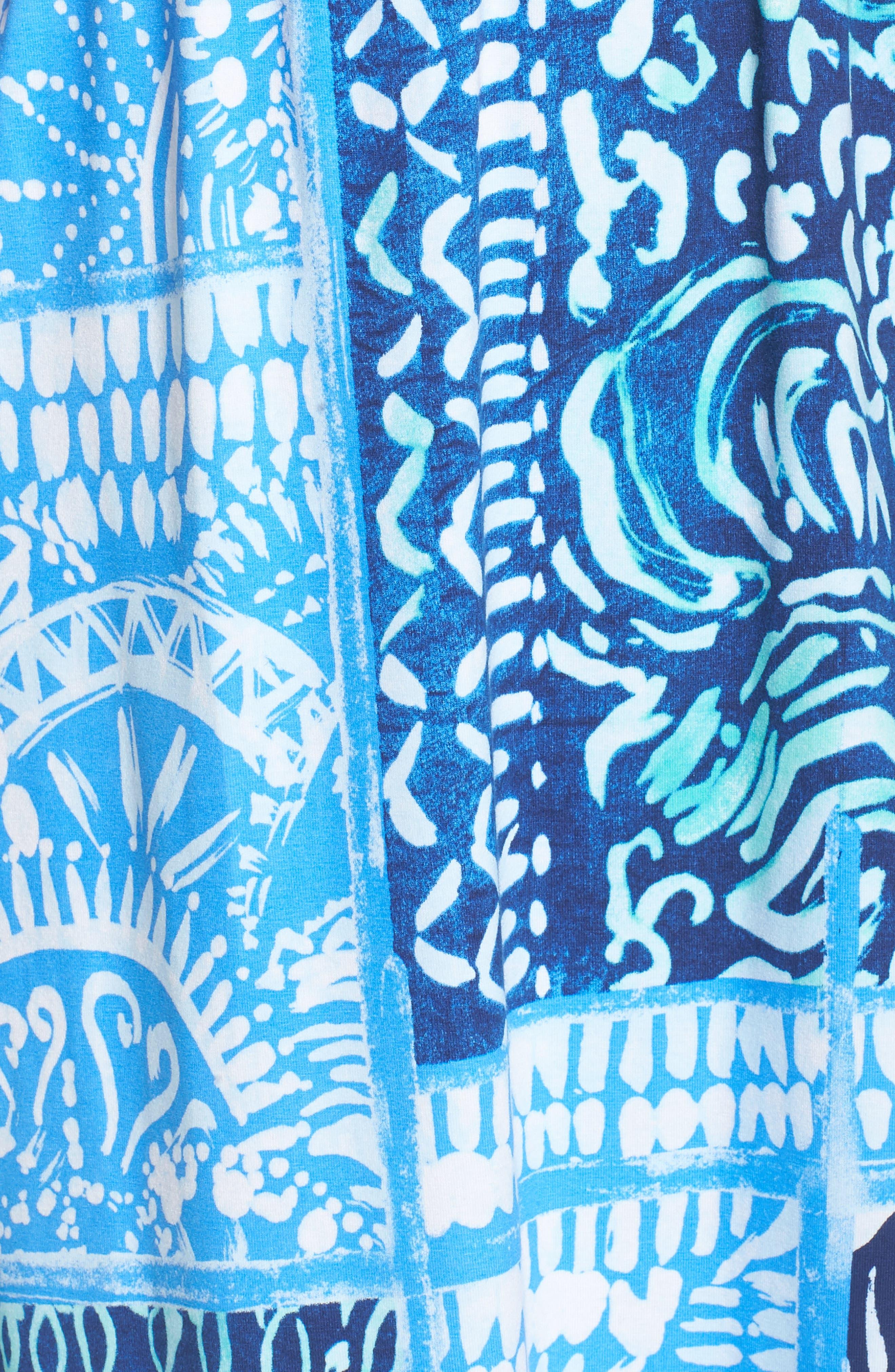 Meridian Strapless Midi Dress,                             Alternate thumbnail 5, color,                             Deep Indigo Leid Back