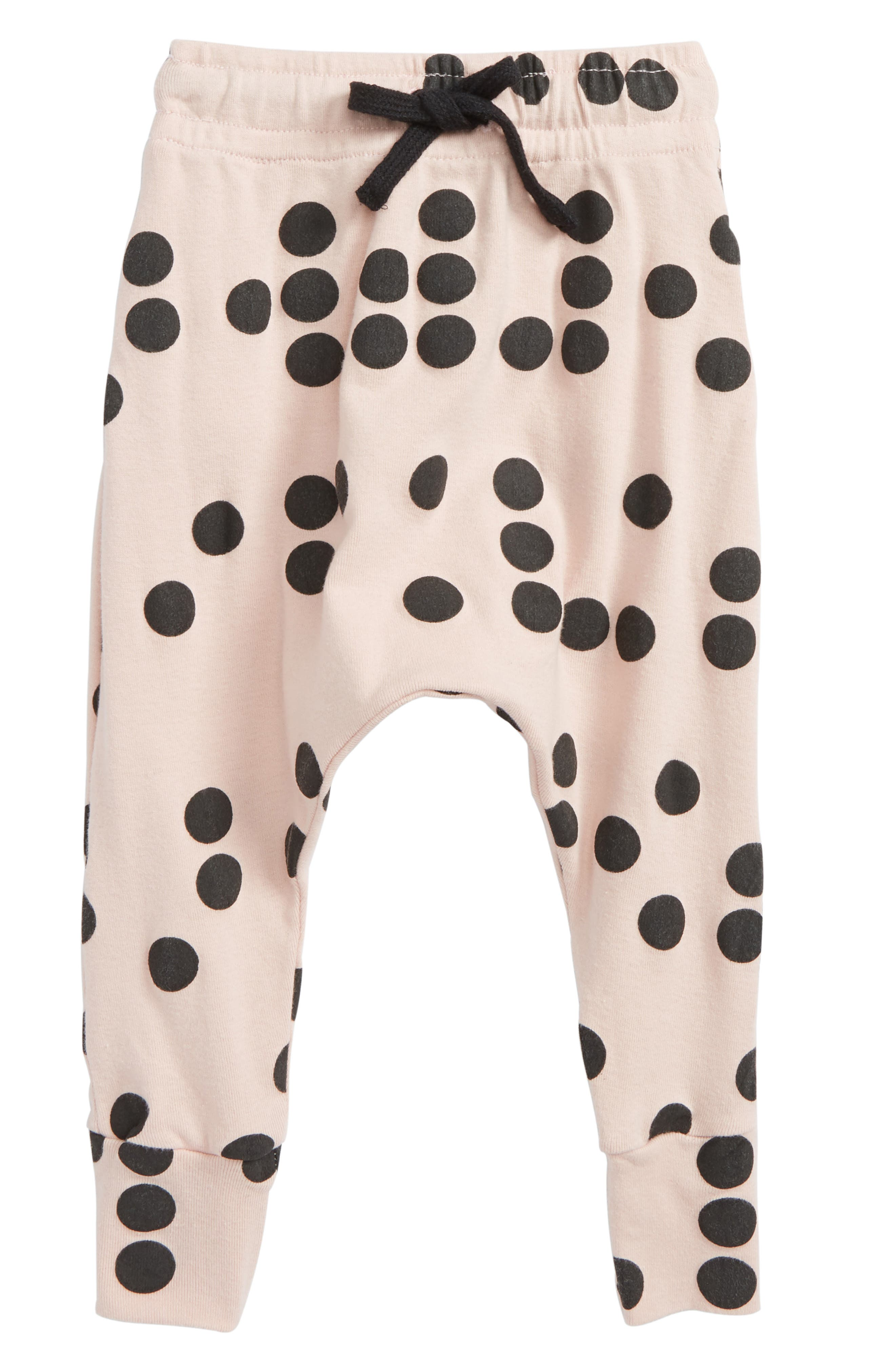 Braille Baggy Pants,                         Main,                         color, Powder Pink