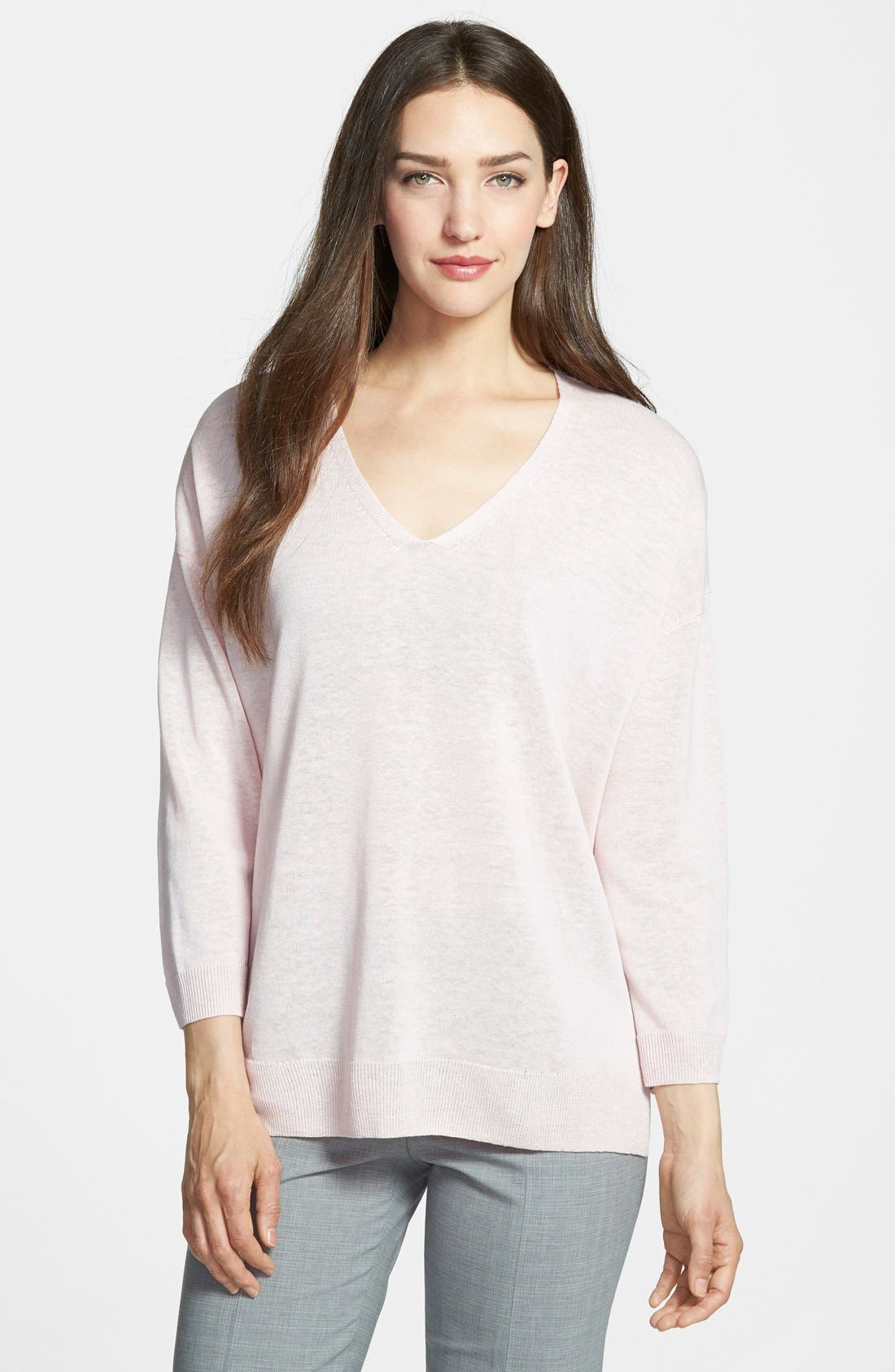 Alternate Image 1 Selected - Nordstrom Collection 'Cerchio' V-Neck Pullover