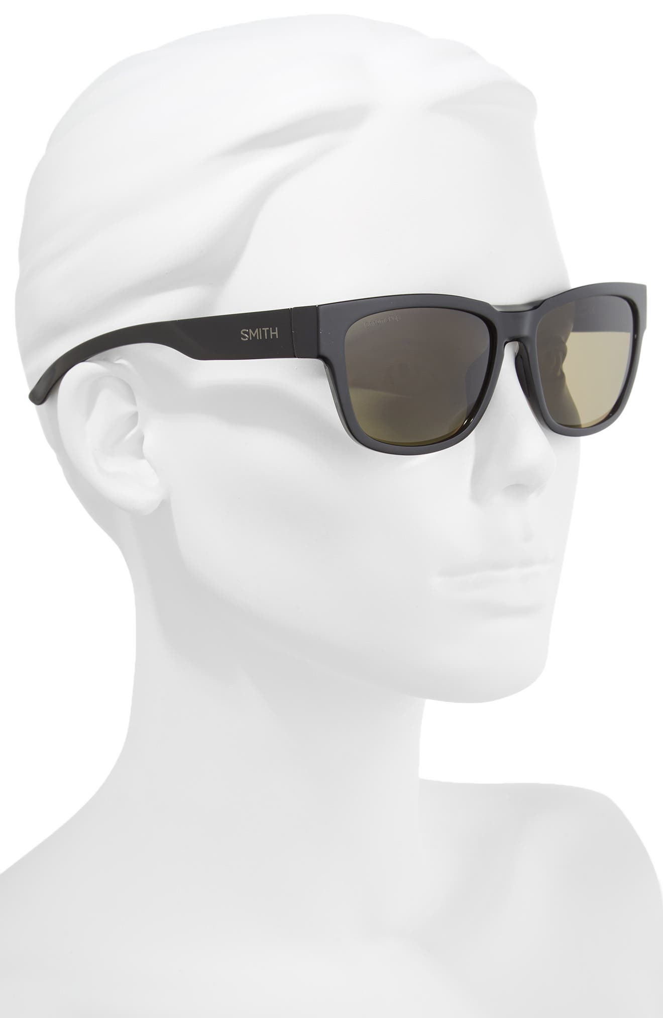 Ember 56mm ChromaPop<sup>™</sup> Square Sunglasses,                             Alternate thumbnail 2, color,                             Black
