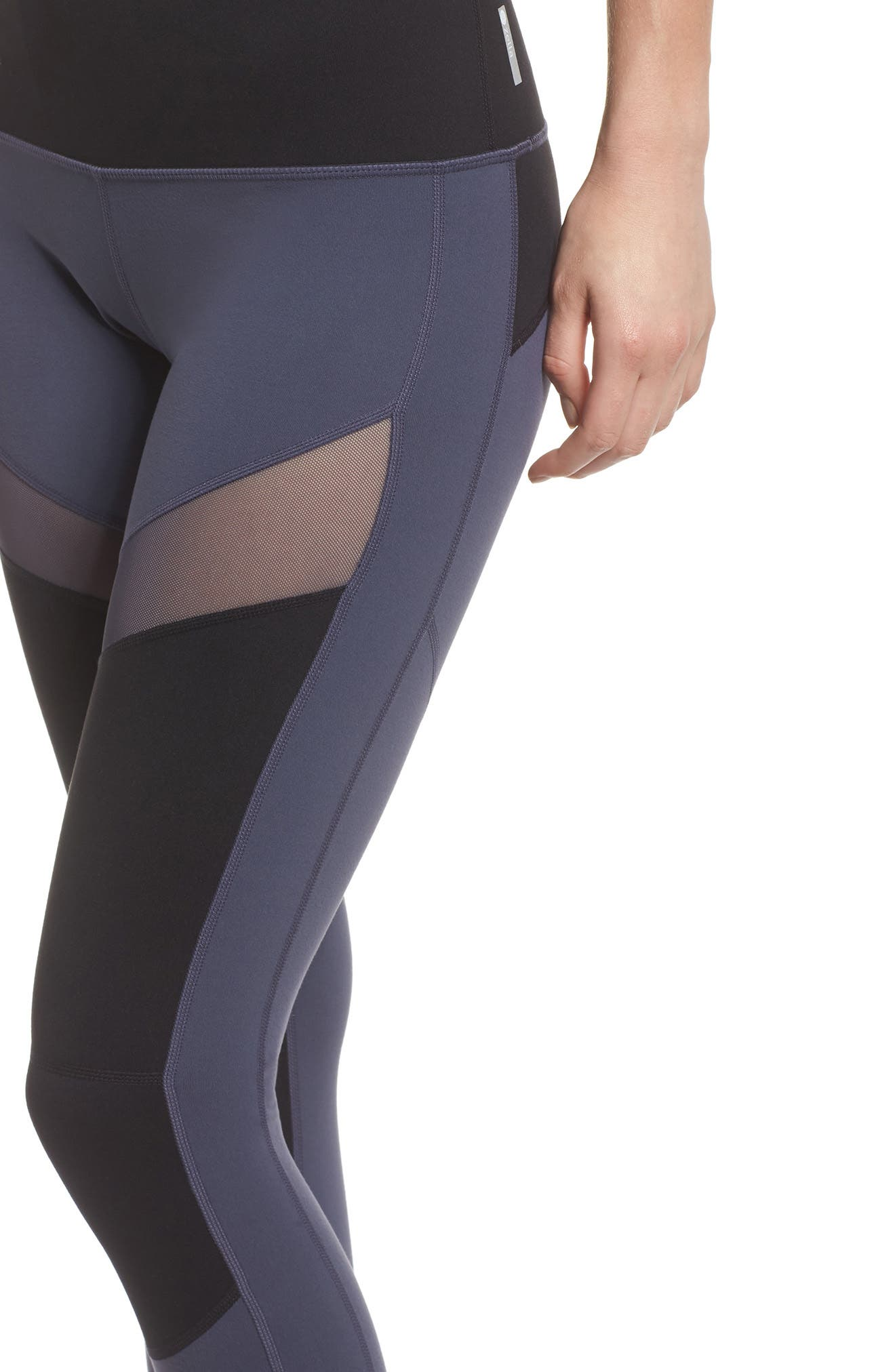 Autumn Block Ankle Leggings,                             Alternate thumbnail 4, color,                             Grey Slate