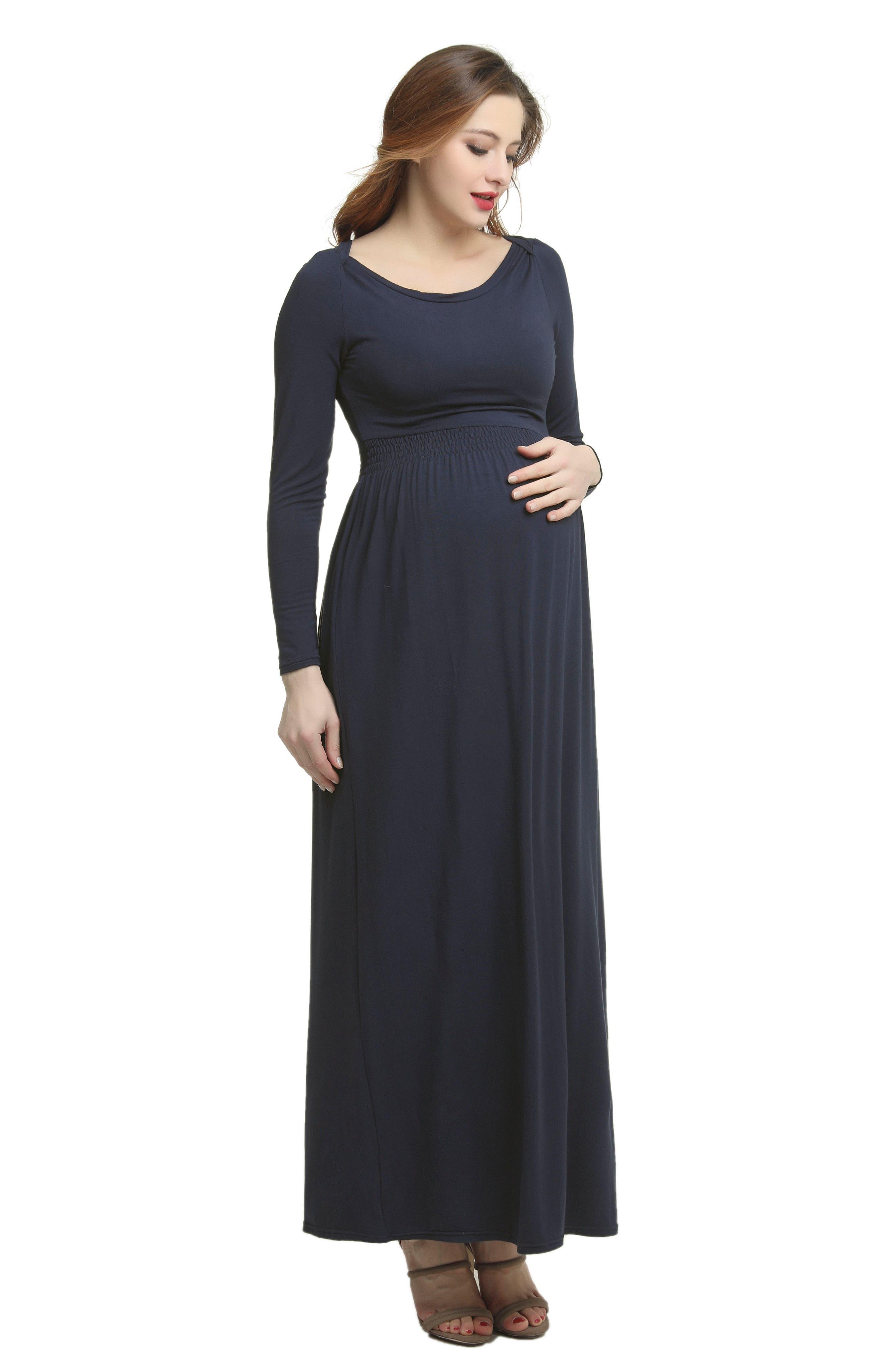 Jackie Empire Waist Maxi Dress,                             Alternate thumbnail 3, color,