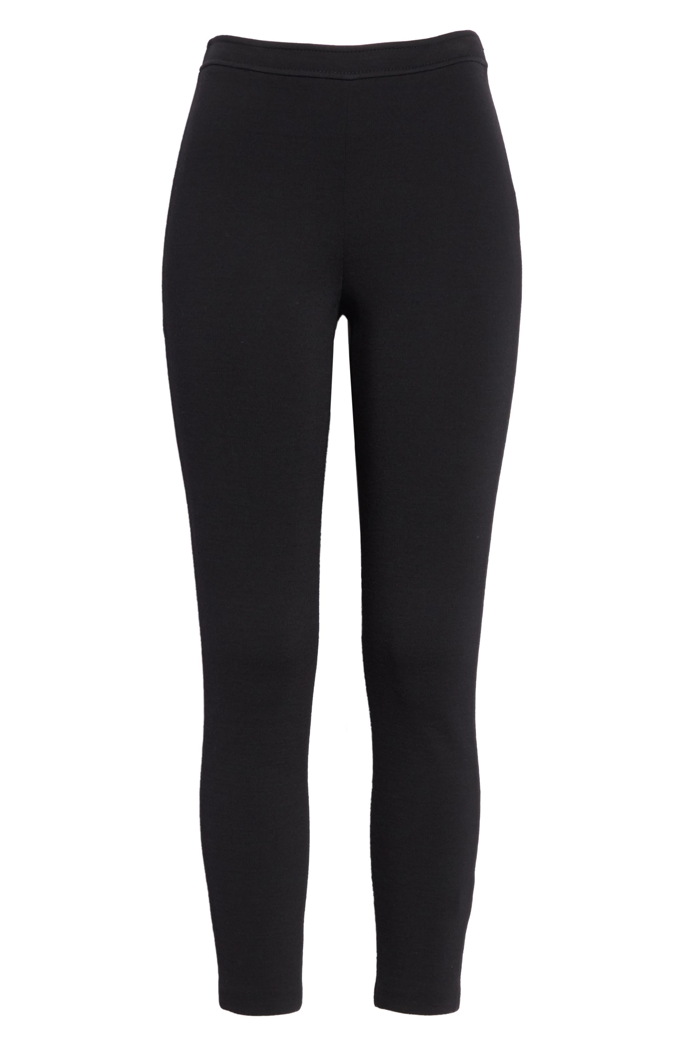 Alexa Milano Knit Pants,                             Alternate thumbnail 6, color,                             Caviar