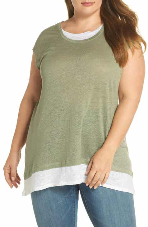 Vince Camuto Layered Look Tee (Plus Size)