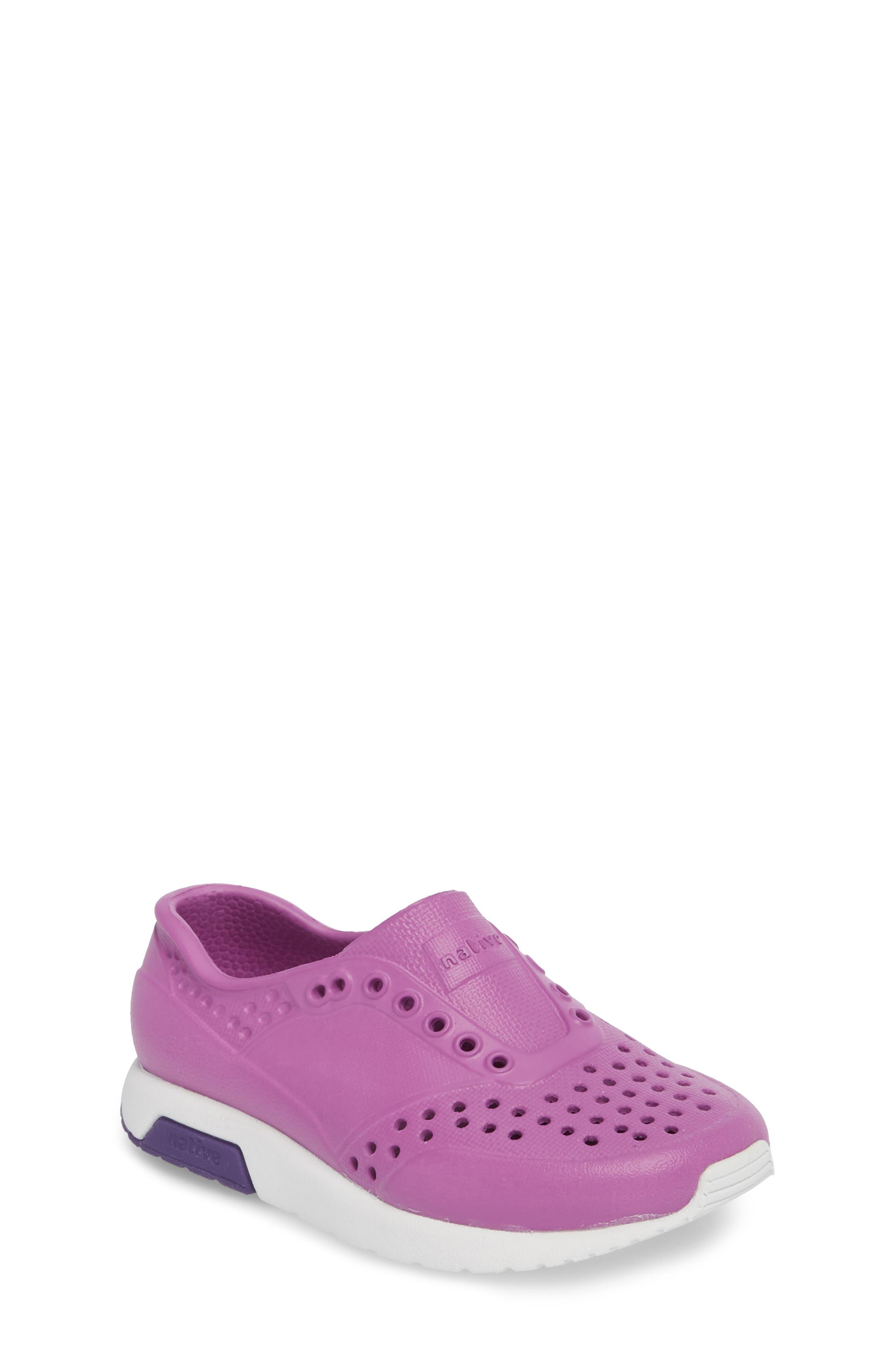 Lennox Slip-On Sneaker,                             Main thumbnail 1, color,                             Peace Purple/ Shell White