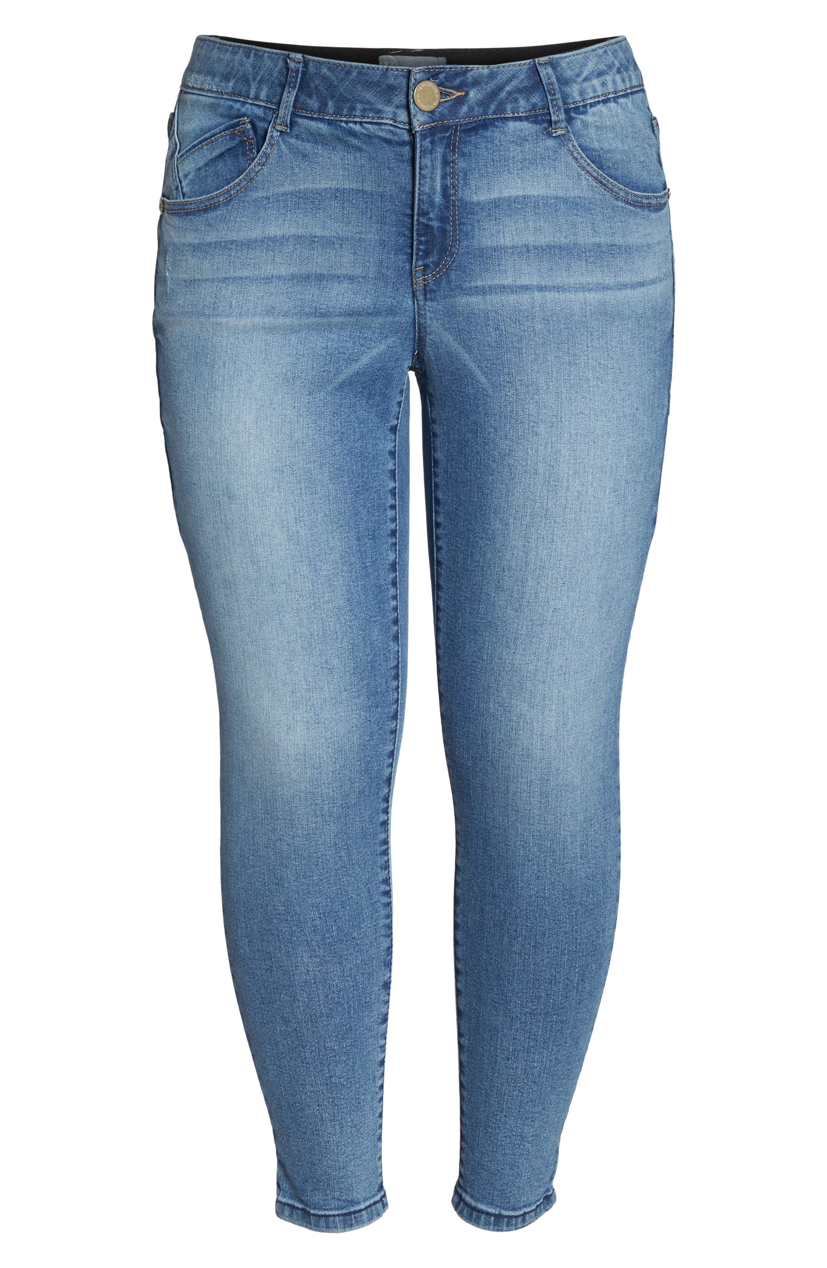 Ab-solution Stretch Ankle Skimmer Jeans,                             Alternate thumbnail 7, color,                             Light Blue