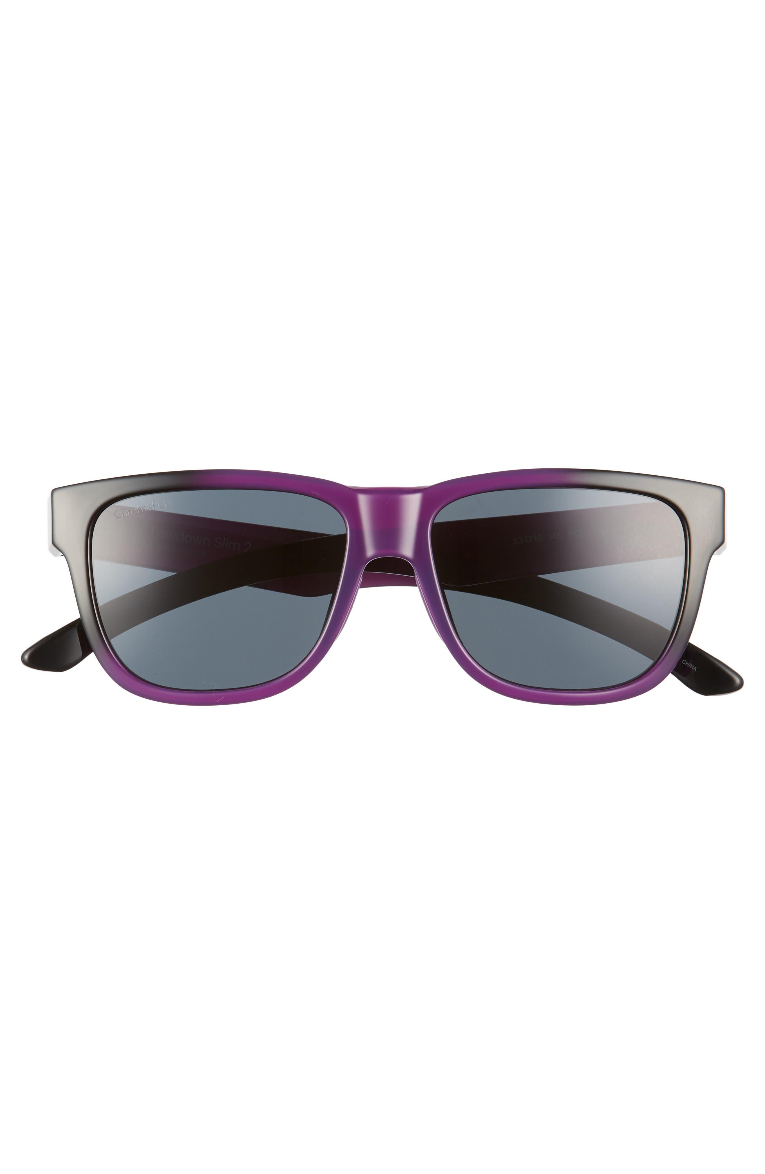 Lowdown Slim 2 53mm ChromaPop<sup>™</sup> Square Sunglasses,                             Alternate thumbnail 3, color,                             Violet Spray