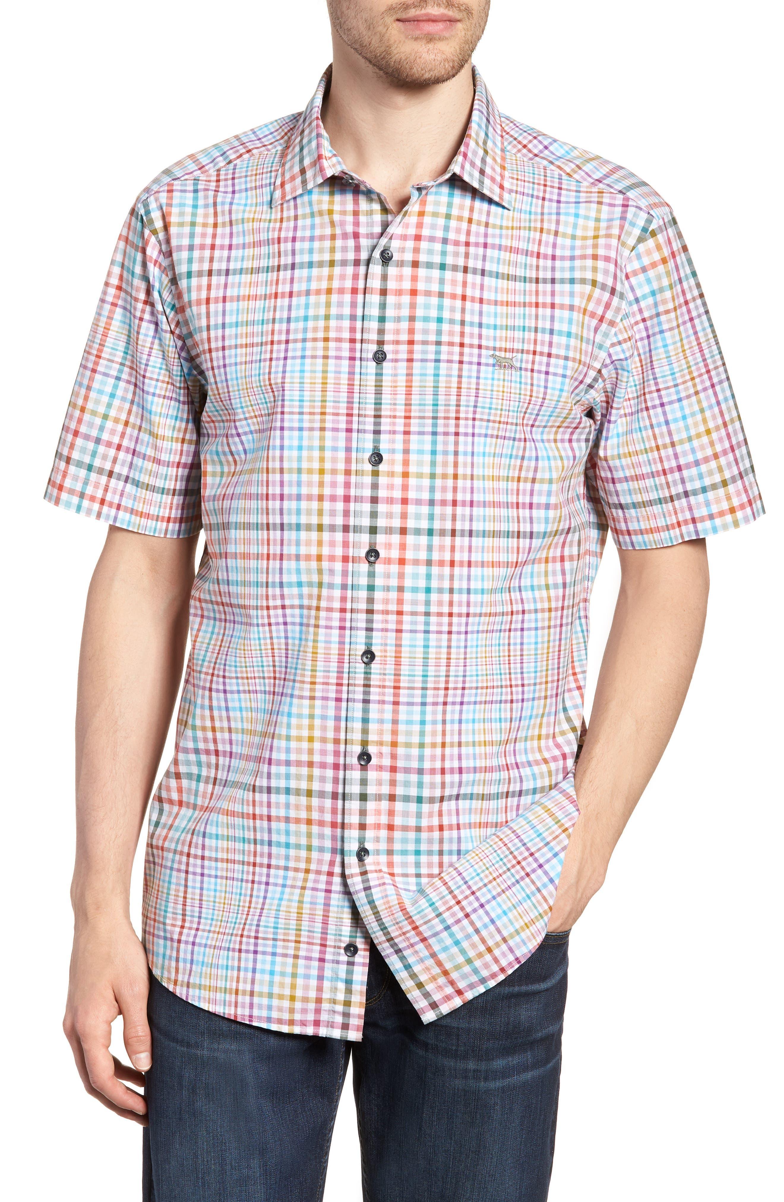 Edgewater Regular Fit Sport Shirt,                         Main,                         color, Coral Reef