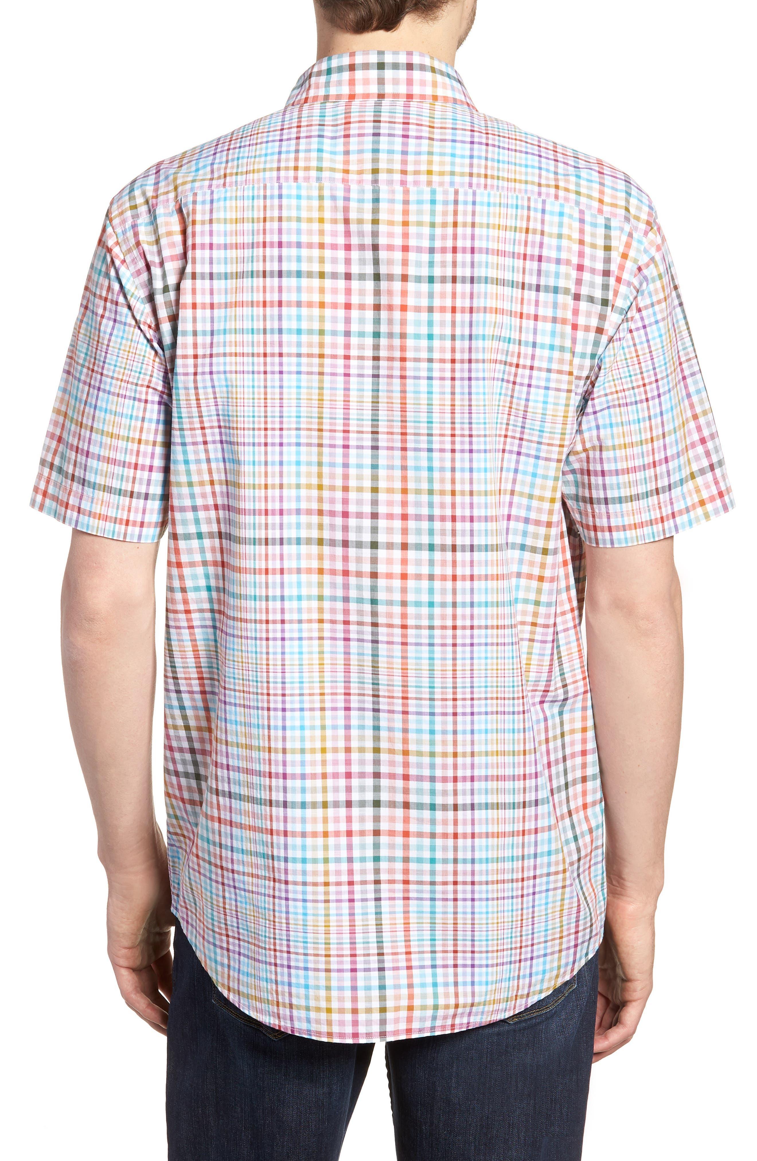 Edgewater Regular Fit Sport Shirt,                             Alternate thumbnail 3, color,                             Coral Reef