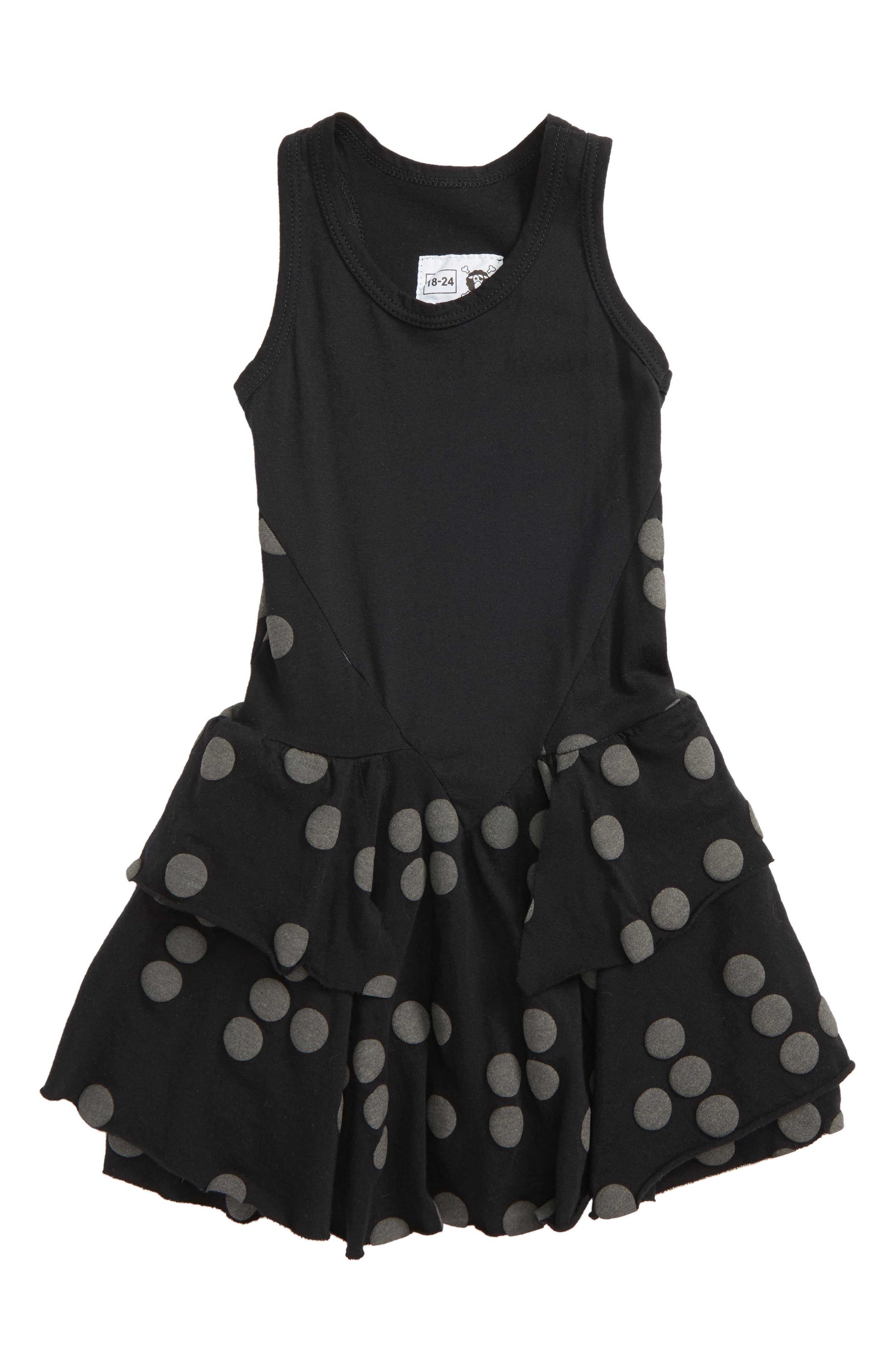 Nununu Braille Dot Layered Tank Dress (Baby Girls)