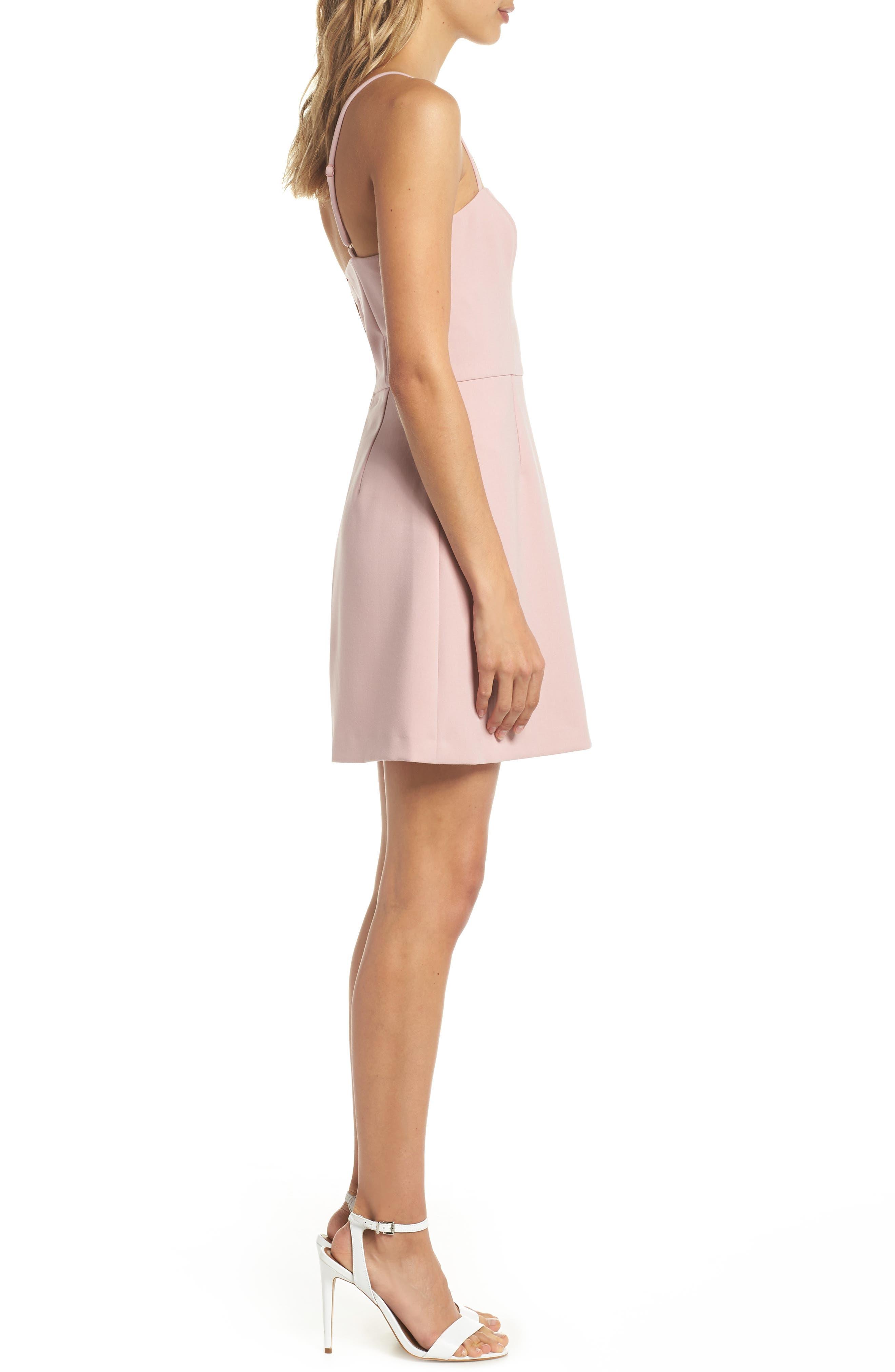 Whisper Light Sweetheart Minidress,                             Alternate thumbnail 3, color,                             Tea Gown