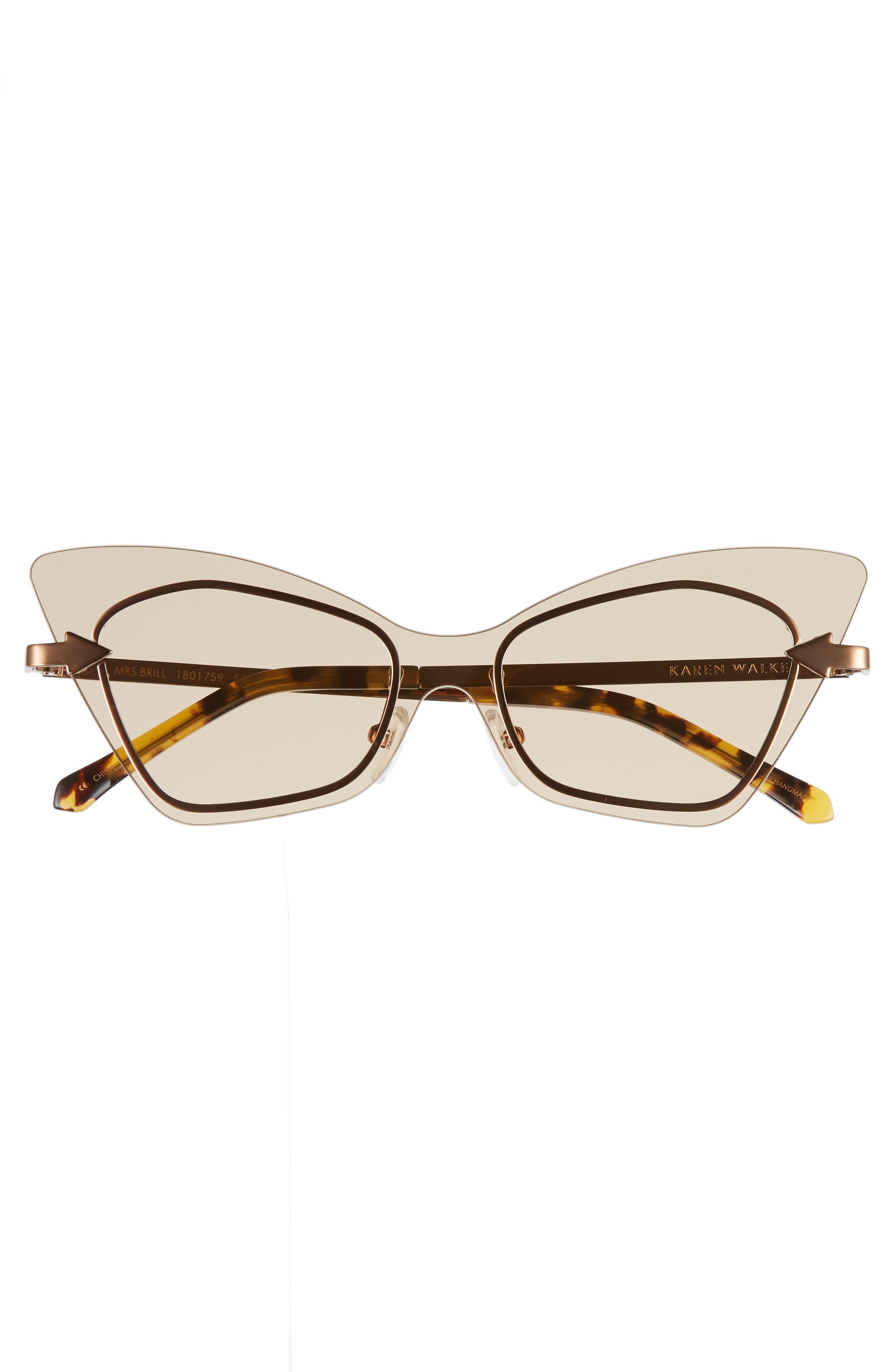 Mrs. Brill 53mm Cat Eye Sunglasses,                             Alternate thumbnail 3, color,                             Crazy Tortoise