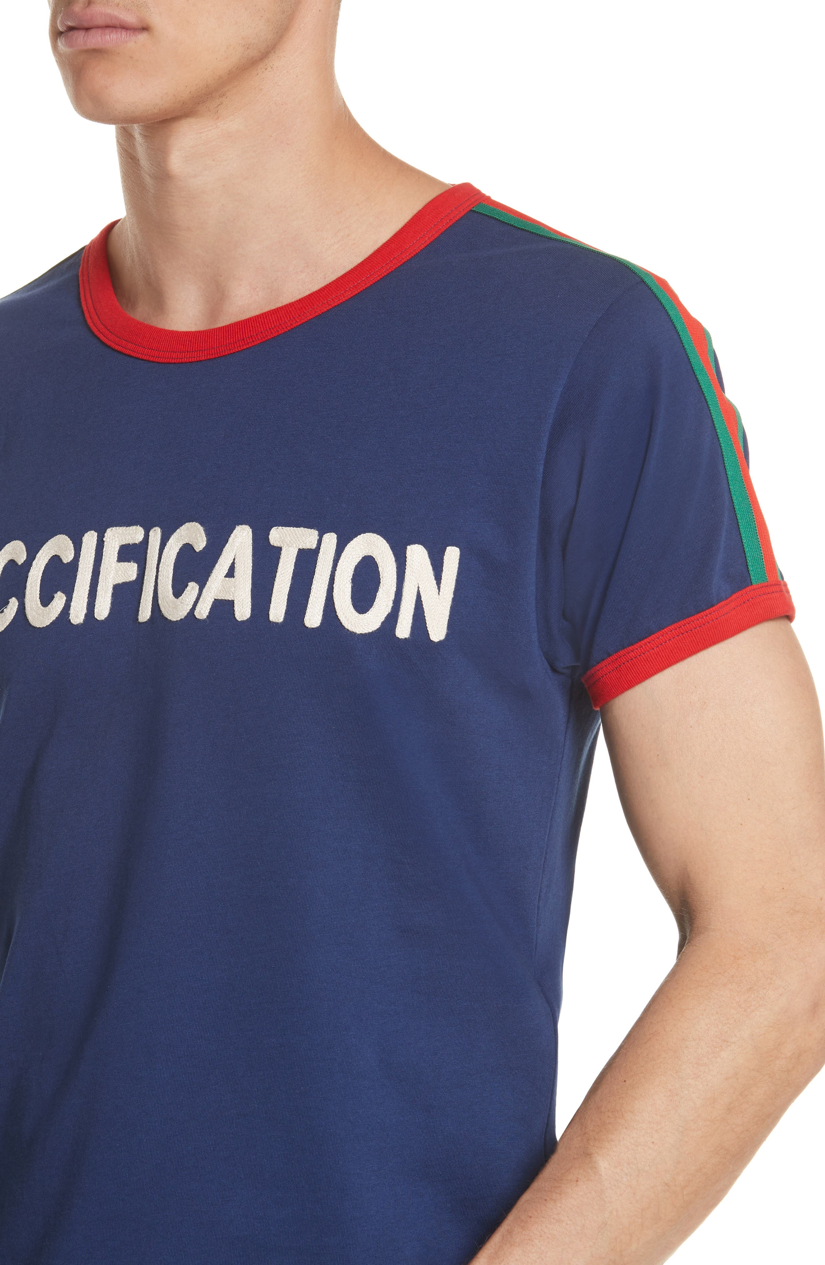 Guccification T-Shirt,                             Alternate thumbnail 4, color,                             4455 Navy
