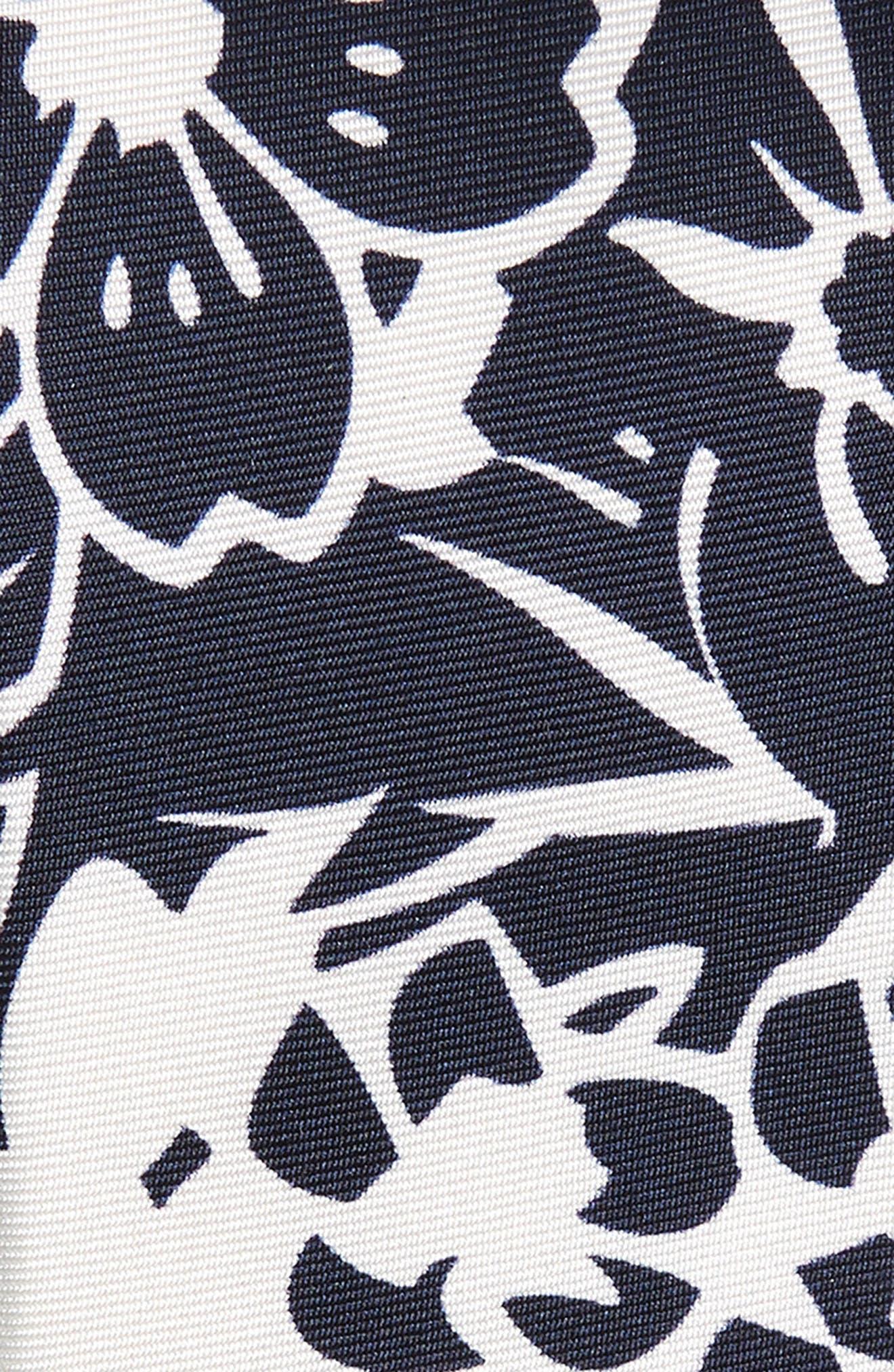 Potts Floral Silk Tie,                             Alternate thumbnail 2, color,                             Dark Navy