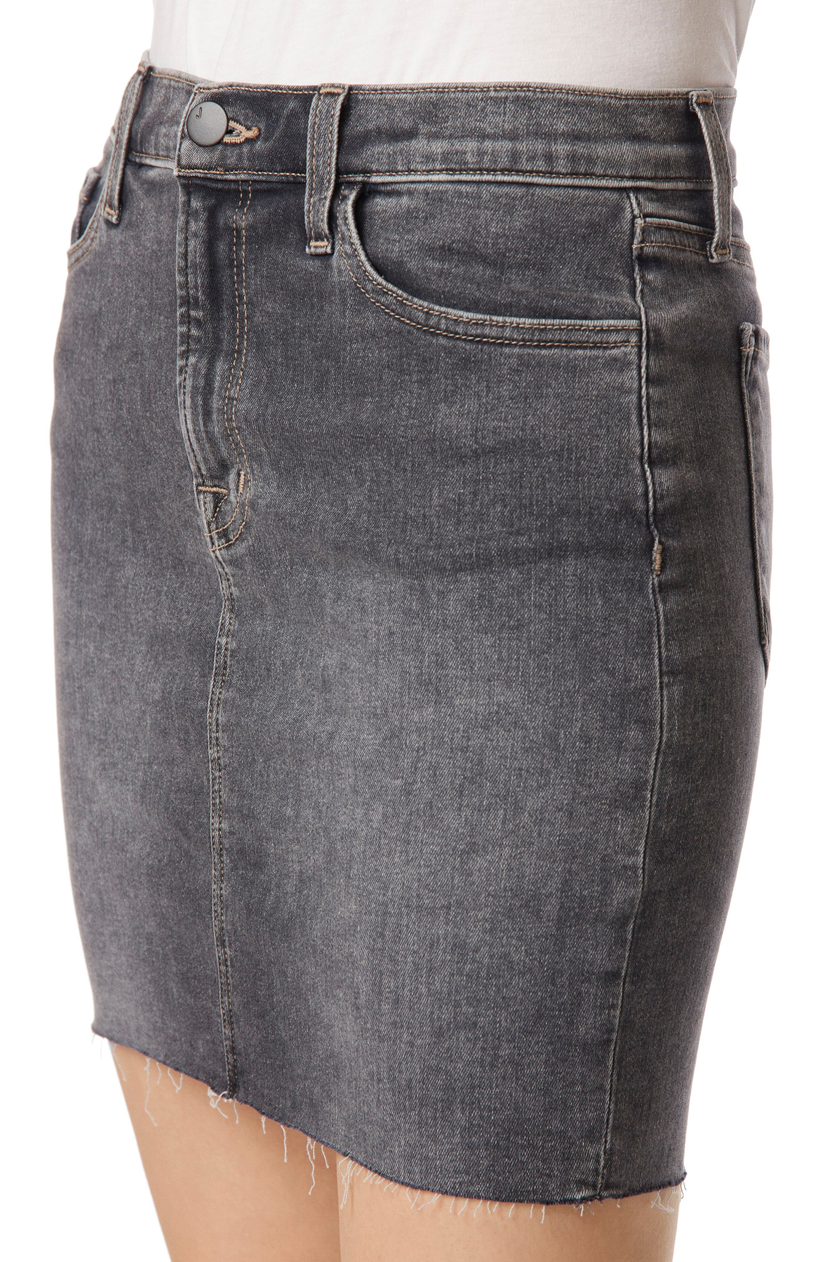 Lyla Raw Hem Miniskirt,                             Alternate thumbnail 4, color,                             Obscura