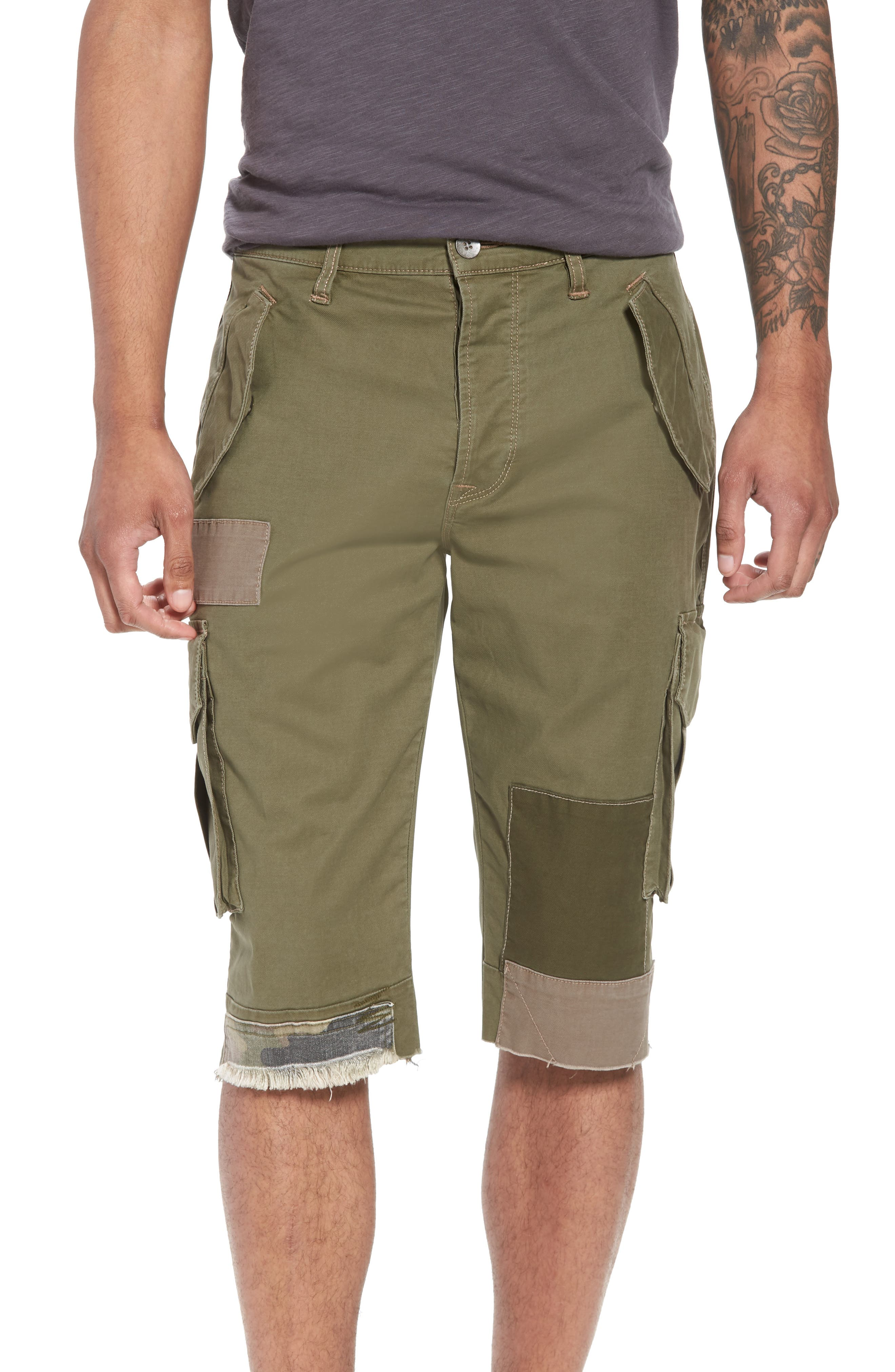 Slim Fit Cargo Shorts,                         Main,                         color, Army Green 2