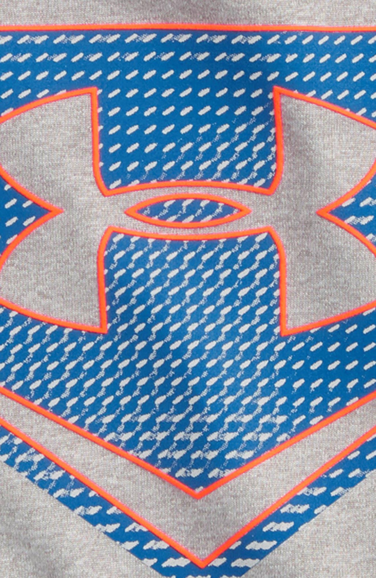 Sync Home Plate Logo HeatGear<sup>®</sup> T-Shirt,                             Alternate thumbnail 2, color,                             True Grey Heather