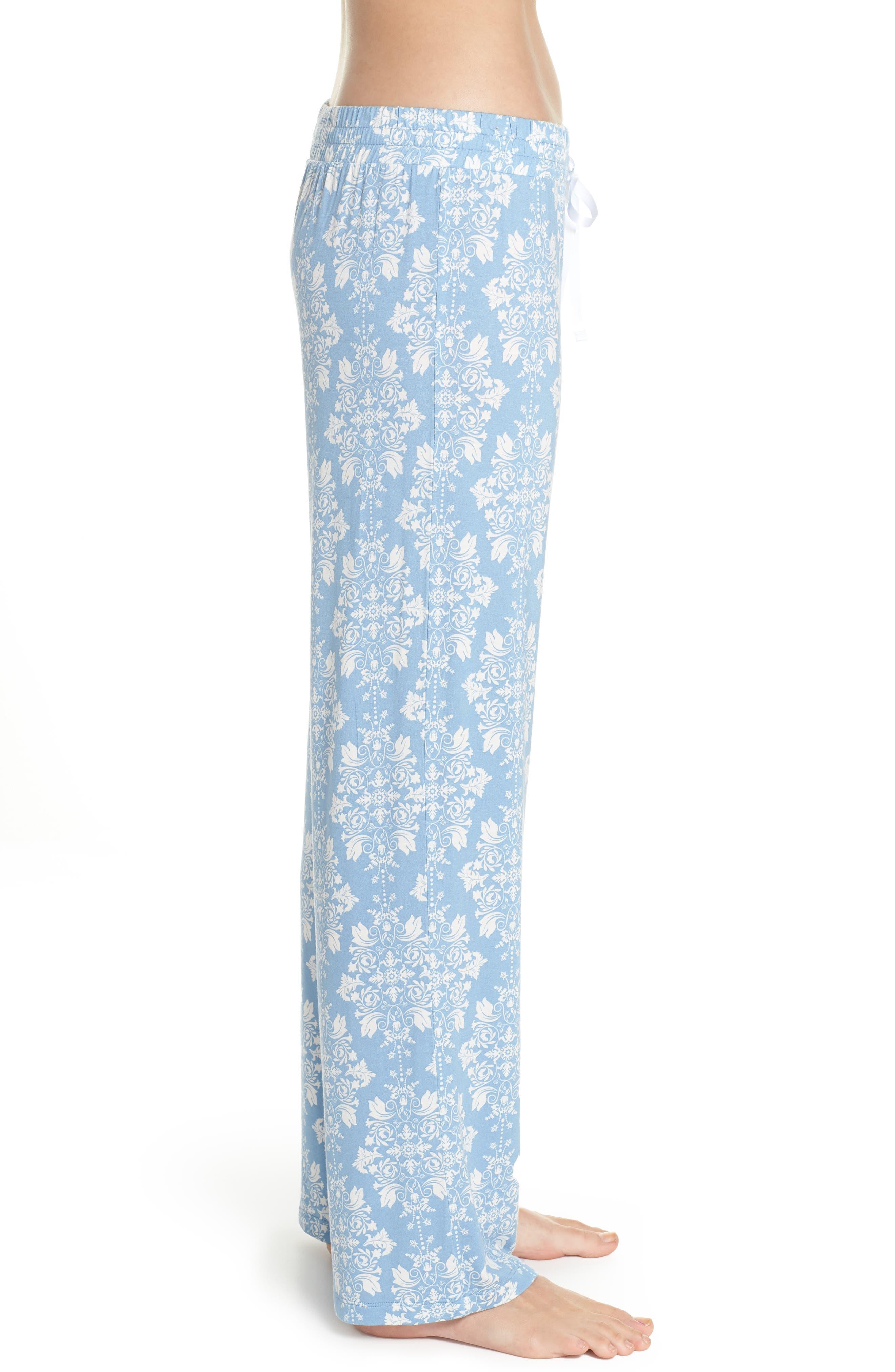 Jersey Pajama Pants,                             Alternate thumbnail 3, color,                             Blue