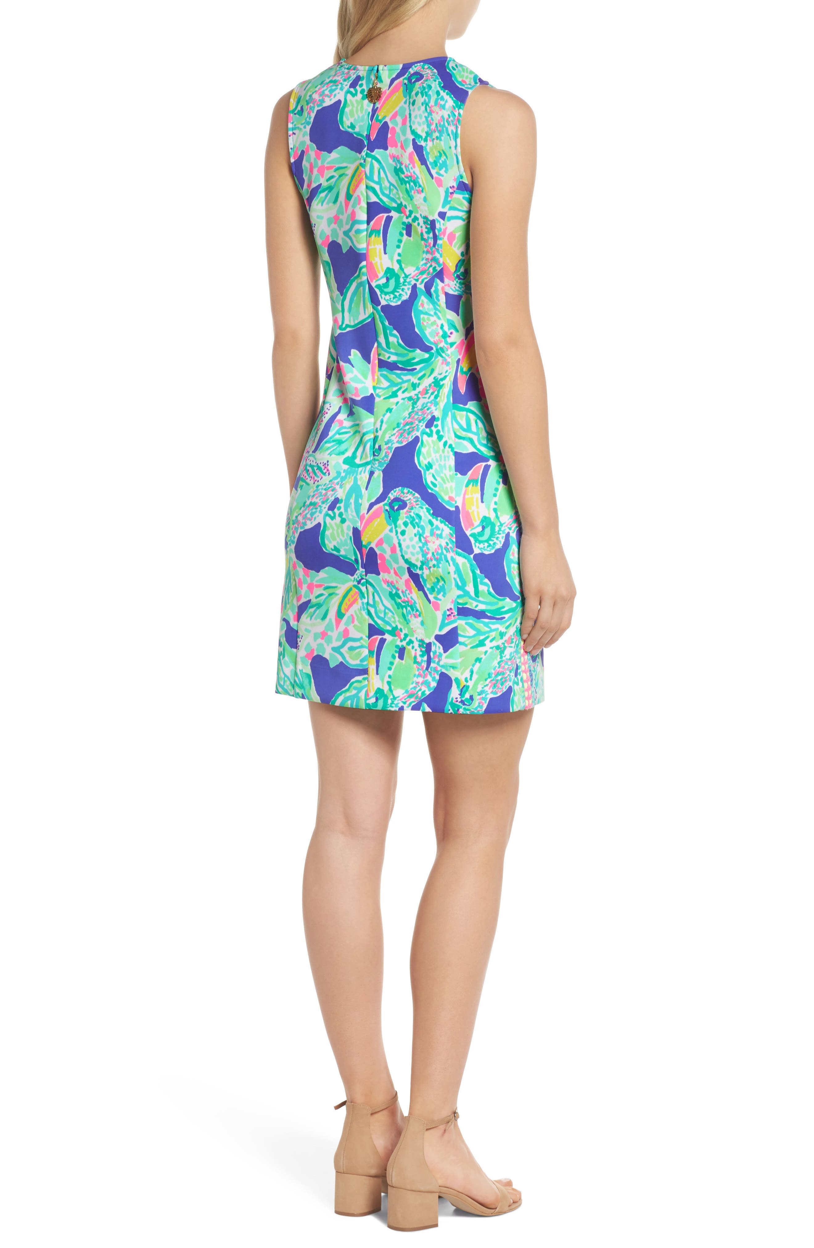 Mila Sheath Dress,                             Alternate thumbnail 2, color,                             Beckon Blue Wake Up Call