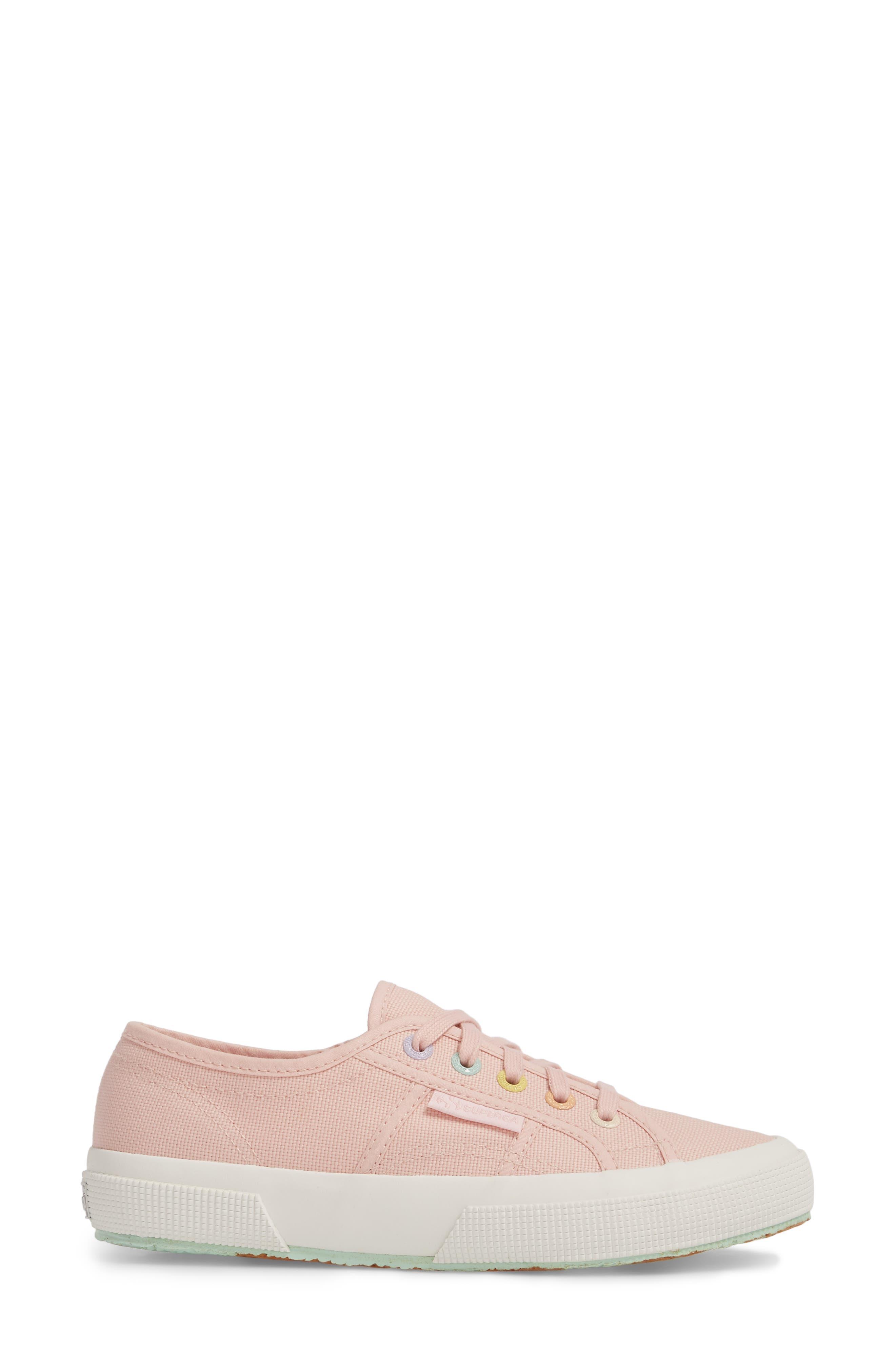 2750 Rainbow Sneaker,                             Alternate thumbnail 3, color,                             Light Pink