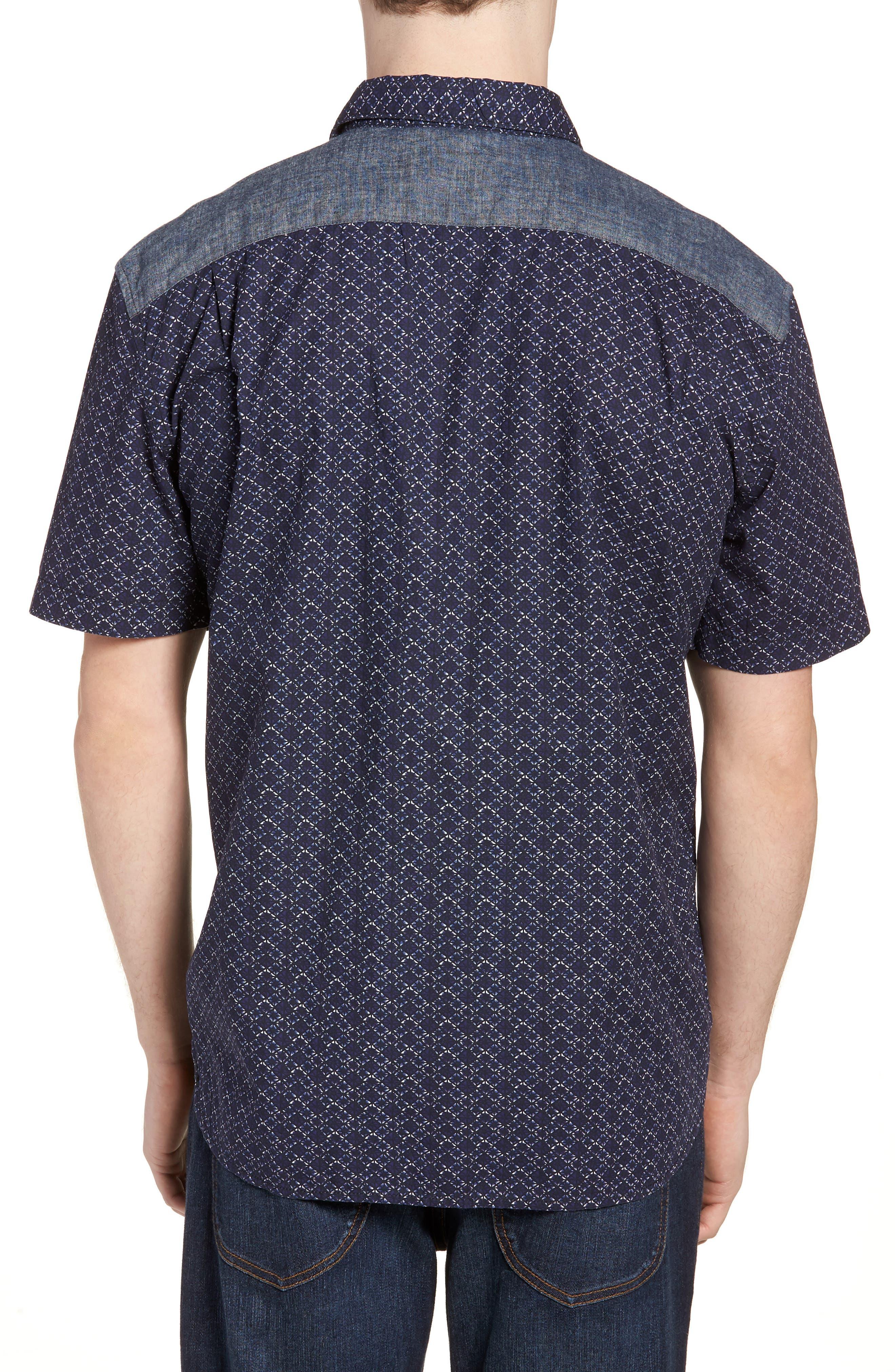 Kast Relaxed Fit Short Sleeve Sport Shirt,                             Alternate thumbnail 2, color,                             Deep Cobalt