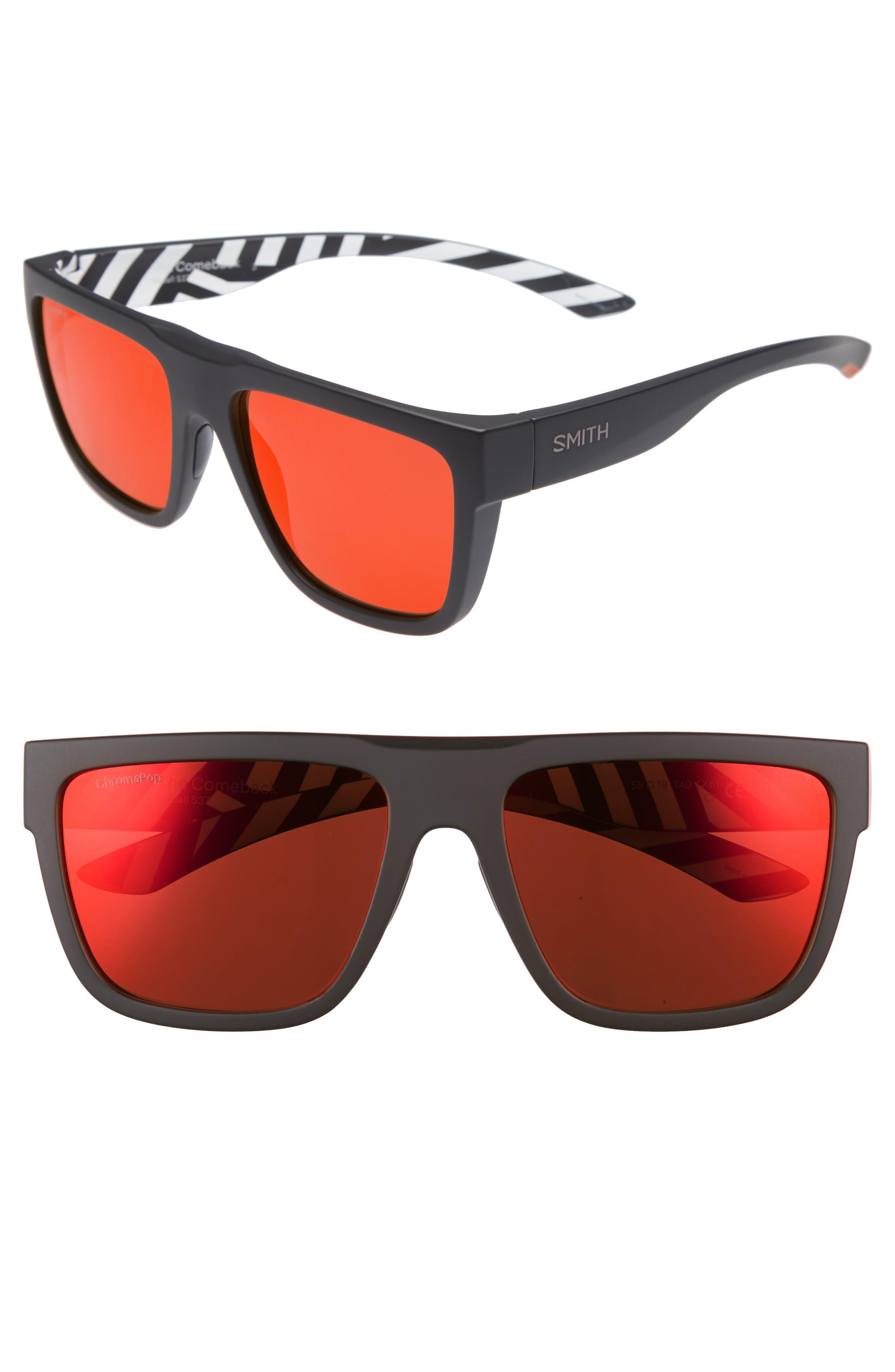 The Comeback 58mm ChromaPop<sup>™</sup> Square Sunglasses,                             Main thumbnail 1, color,                             Squall