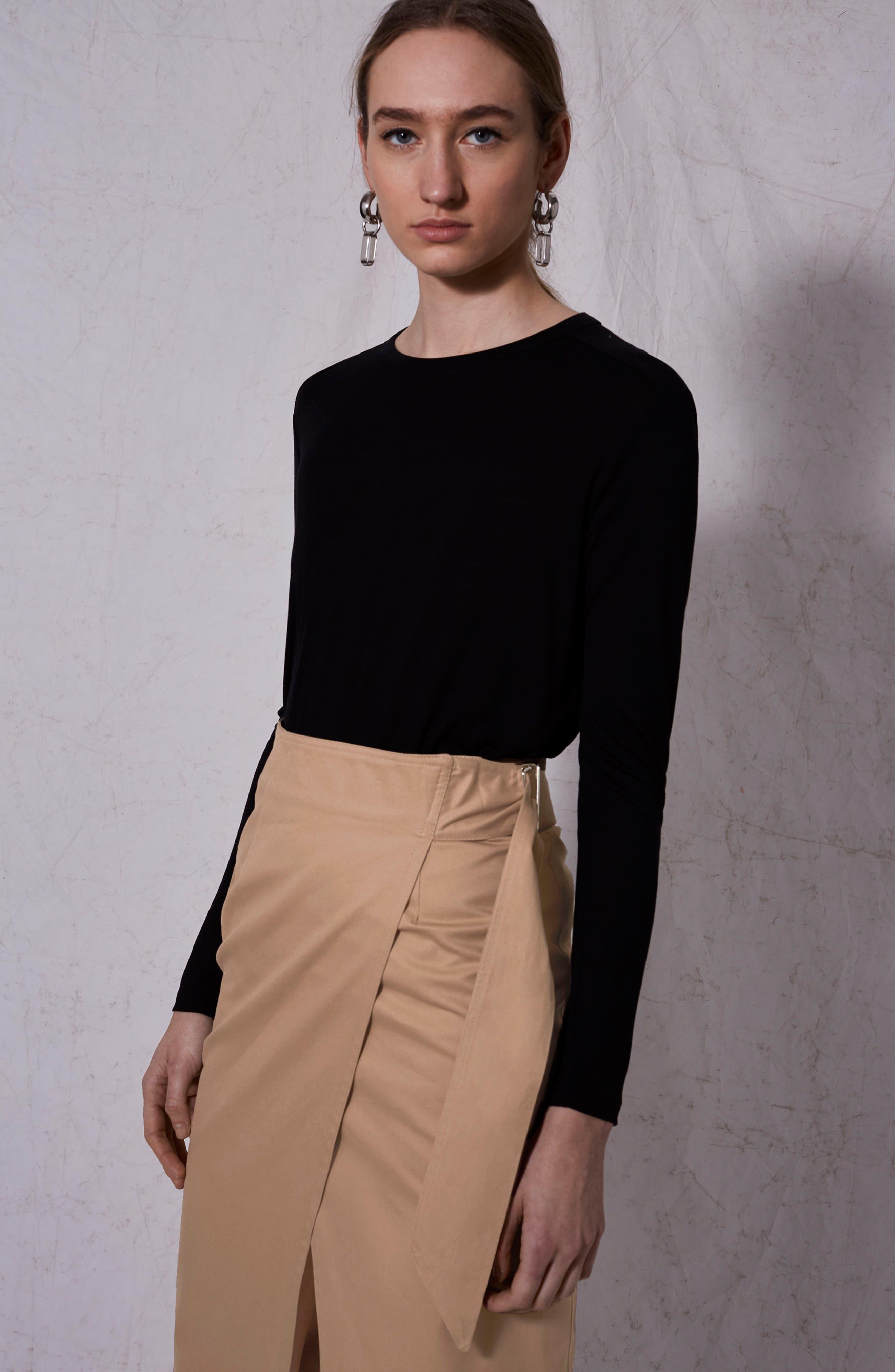 Boutique Utility Wrap Skirt,                             Alternate thumbnail 3, color,