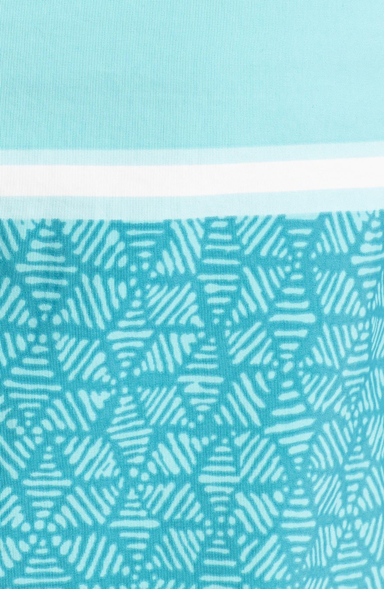 Wavefarer Board Shorts,                             Alternate thumbnail 5, color,                             Batik Hex Stripe Bend Blue