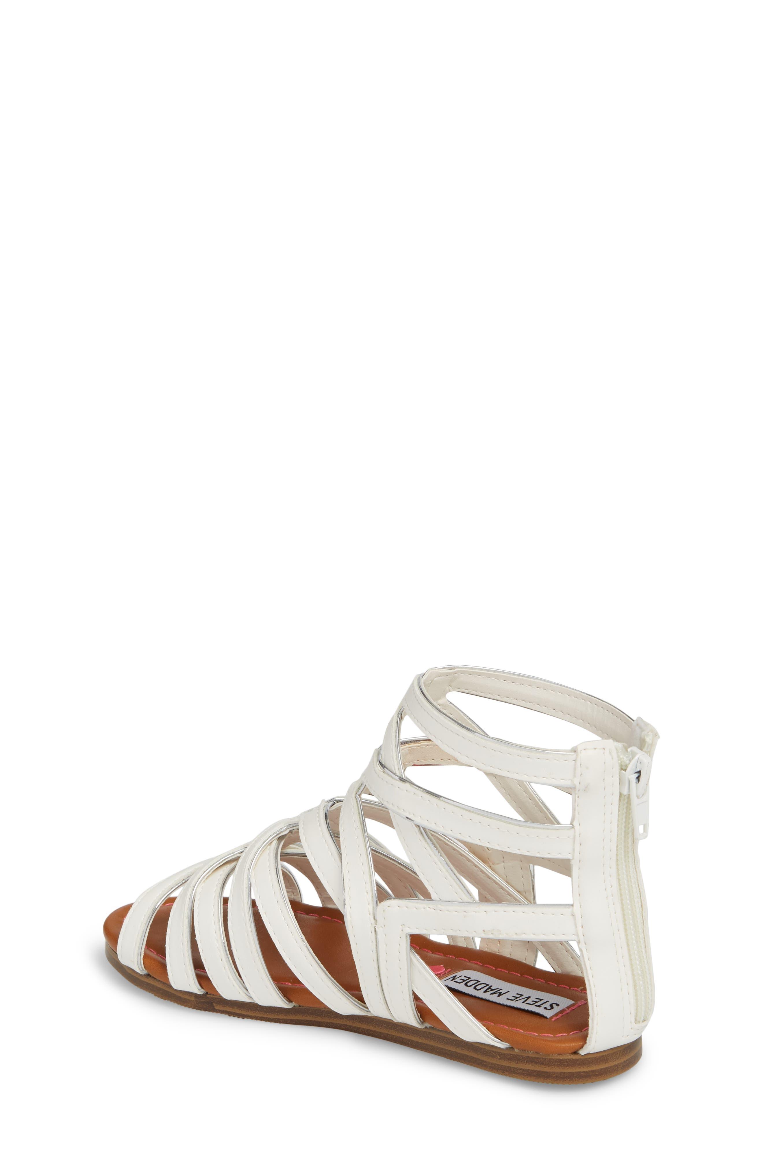 Jessence Gladiator Sandal,                             Alternate thumbnail 2, color,                             White