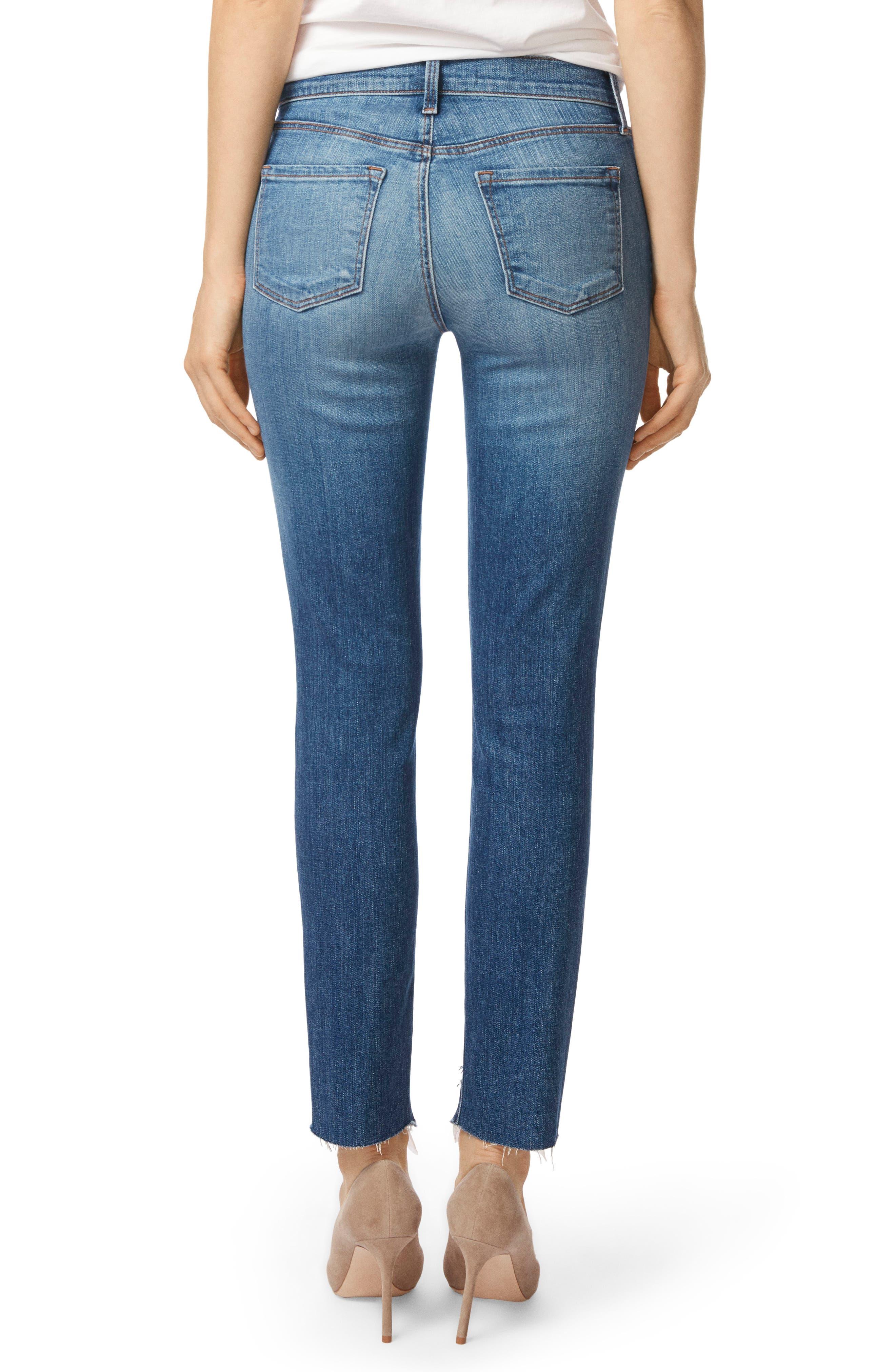 811 Step Hem Skinny Jeans,                             Alternate thumbnail 2, color,                             Gossamer