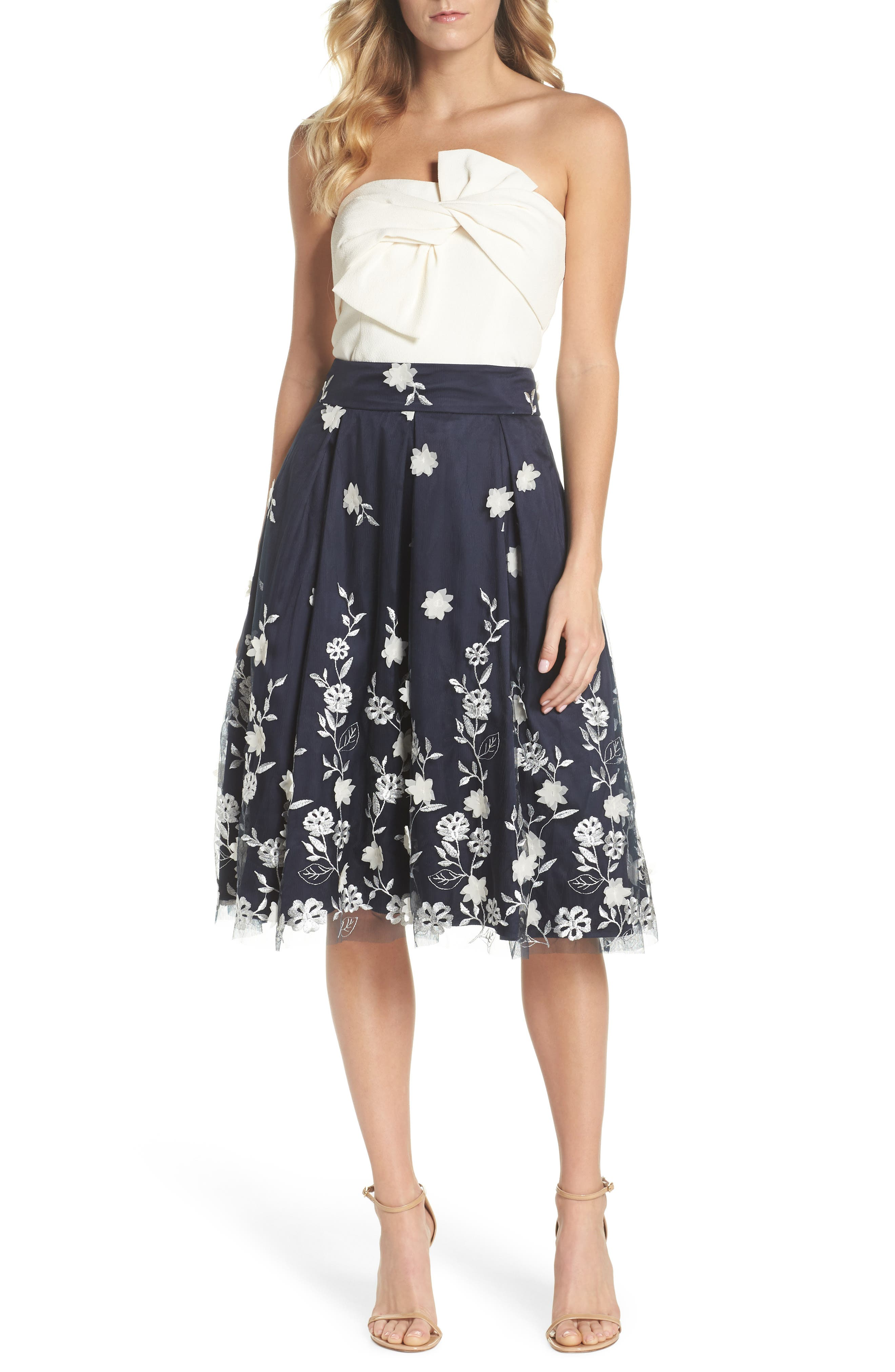Alternate Image 2  - Eliza J Embroidered A-Line Skirt