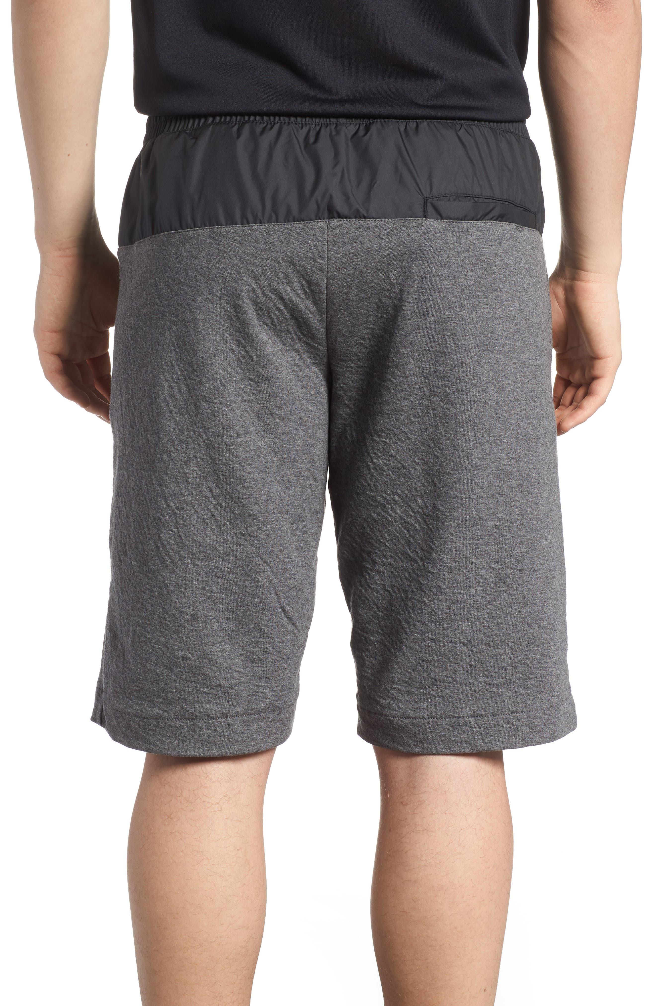 Sportswear Modern Shorts,                             Alternate thumbnail 2, color,                             Charcoal Heather/ Black