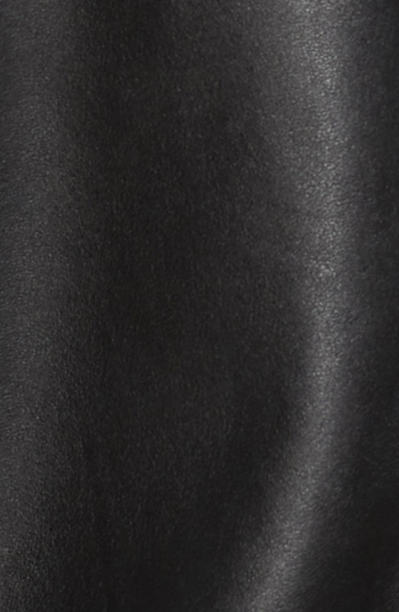 Reversible Leather Jacket,                             Alternate thumbnail 6, color,                             Black/ Navy