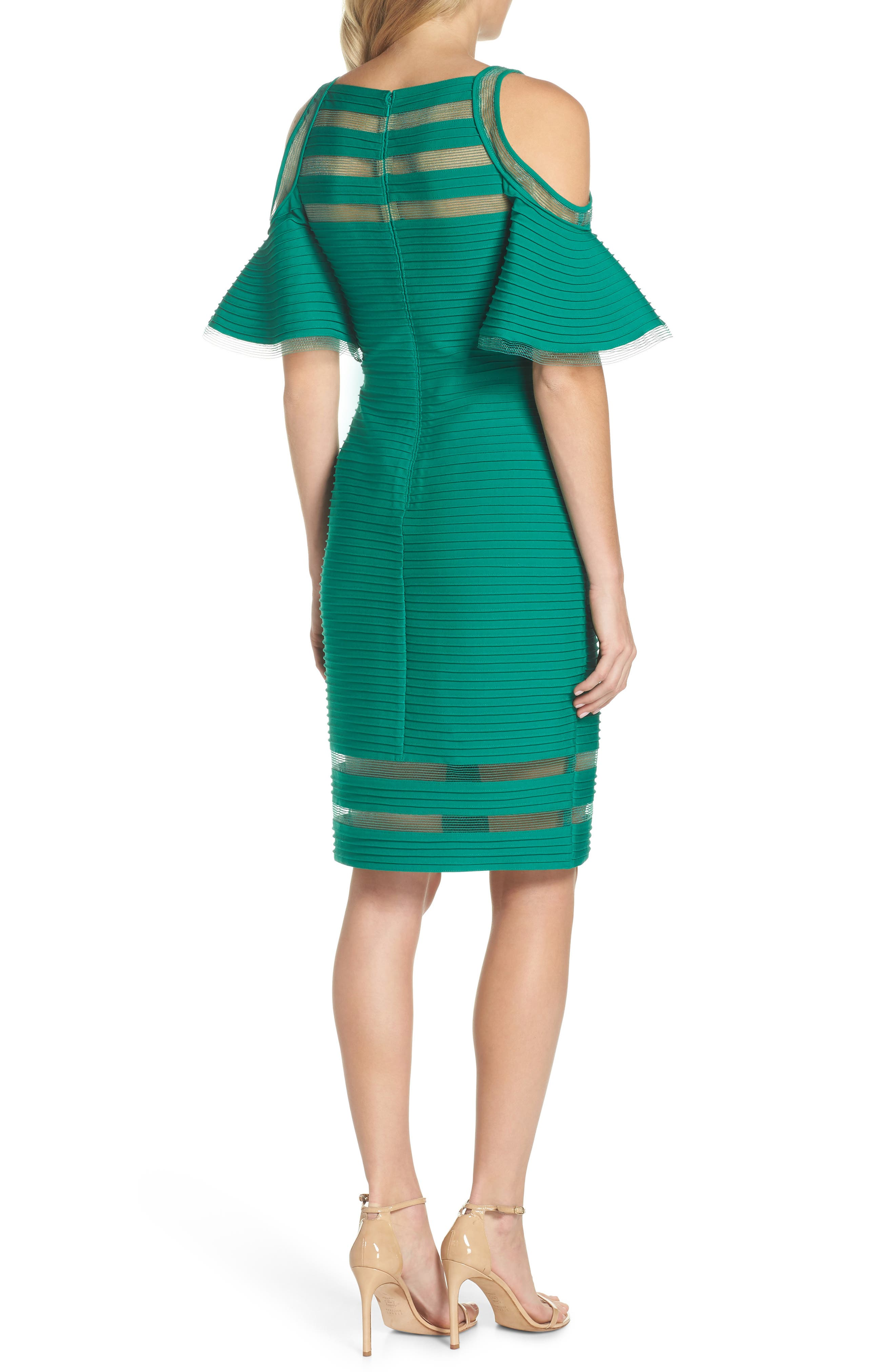 Alternate Image 2  - Tadashi Shoji Cold Shoulder Sheath Dress