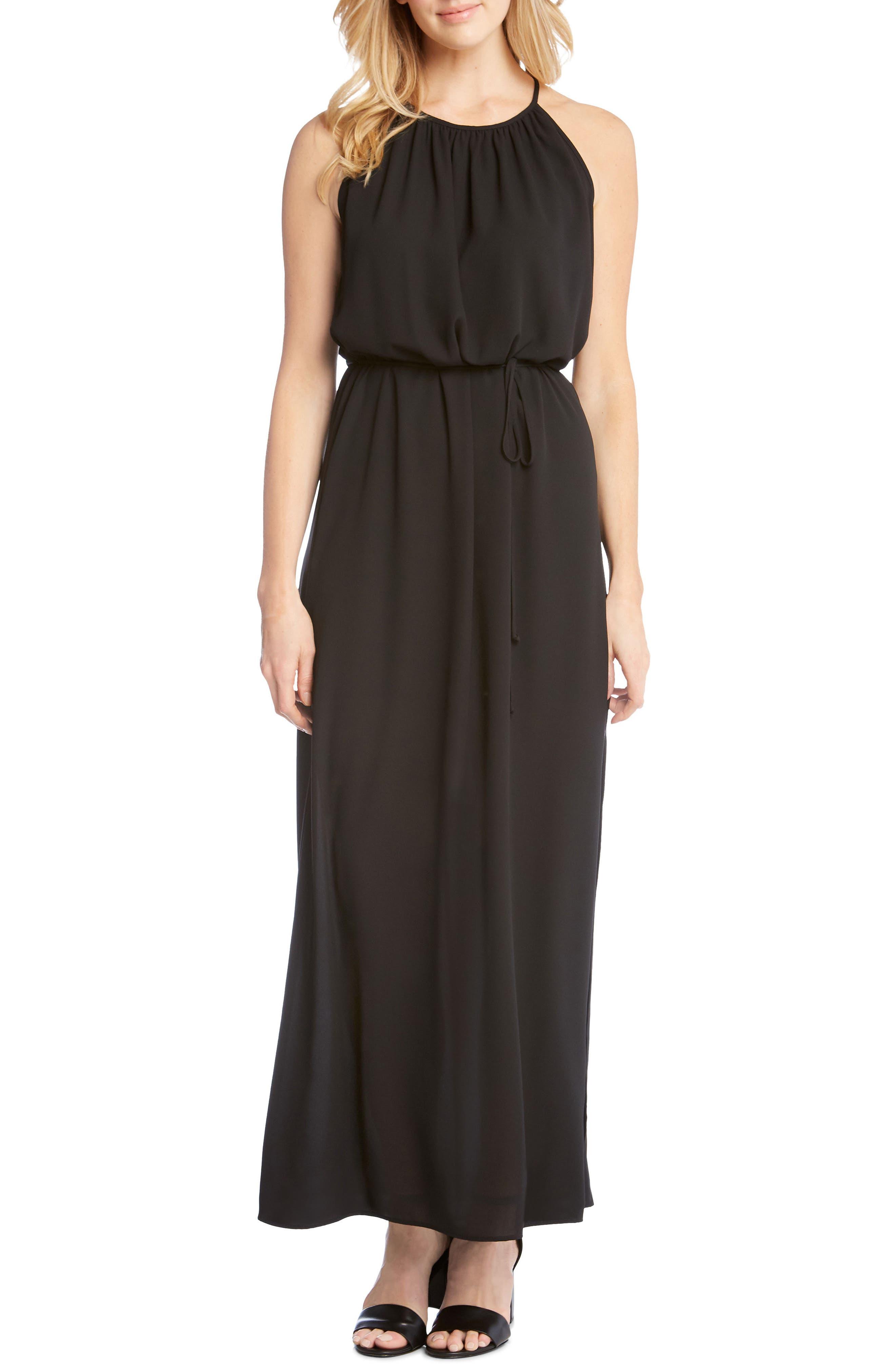 Alternate Image 1 Selected - Karen Kane Morgan Halter Maxi Dress