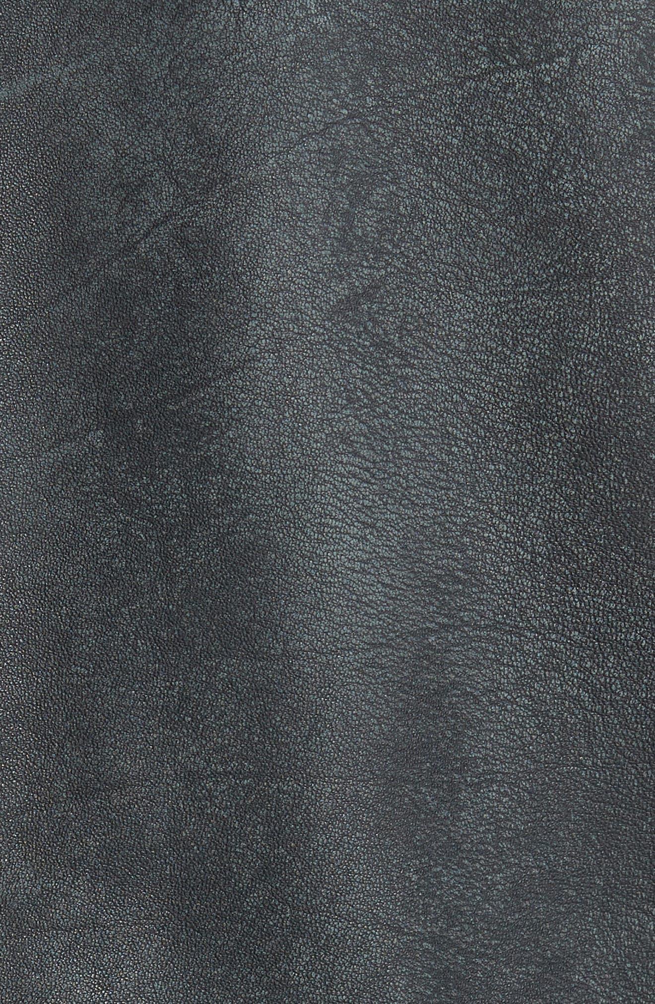 John Varvatos x Nick Jonas Modern Moto Jacket,                             Alternate thumbnail 6, color,                             Shark Grey
