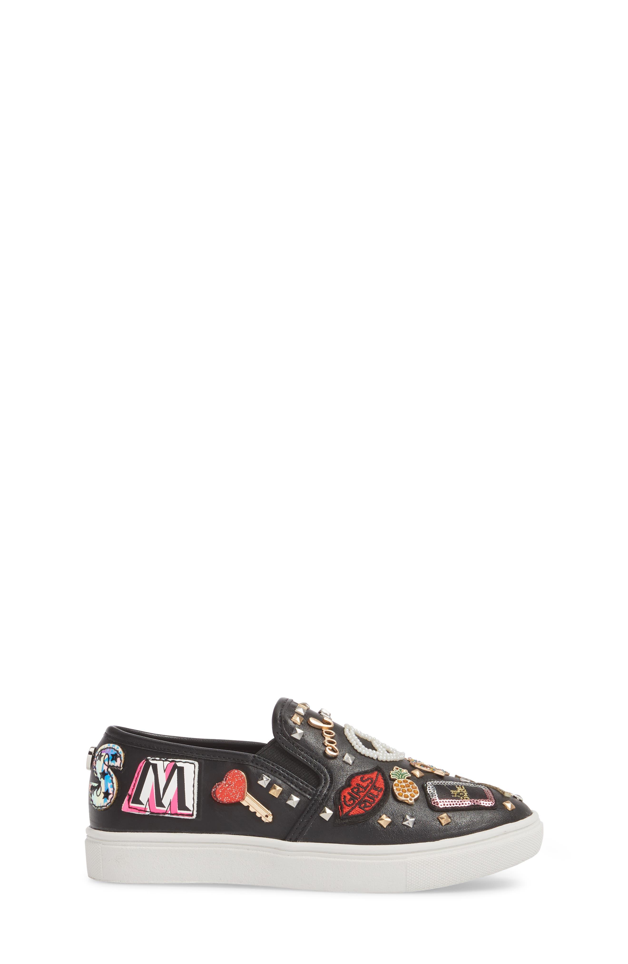 JCraze Embellished Slip-On Sneaker,                             Alternate thumbnail 3, color,                             Black