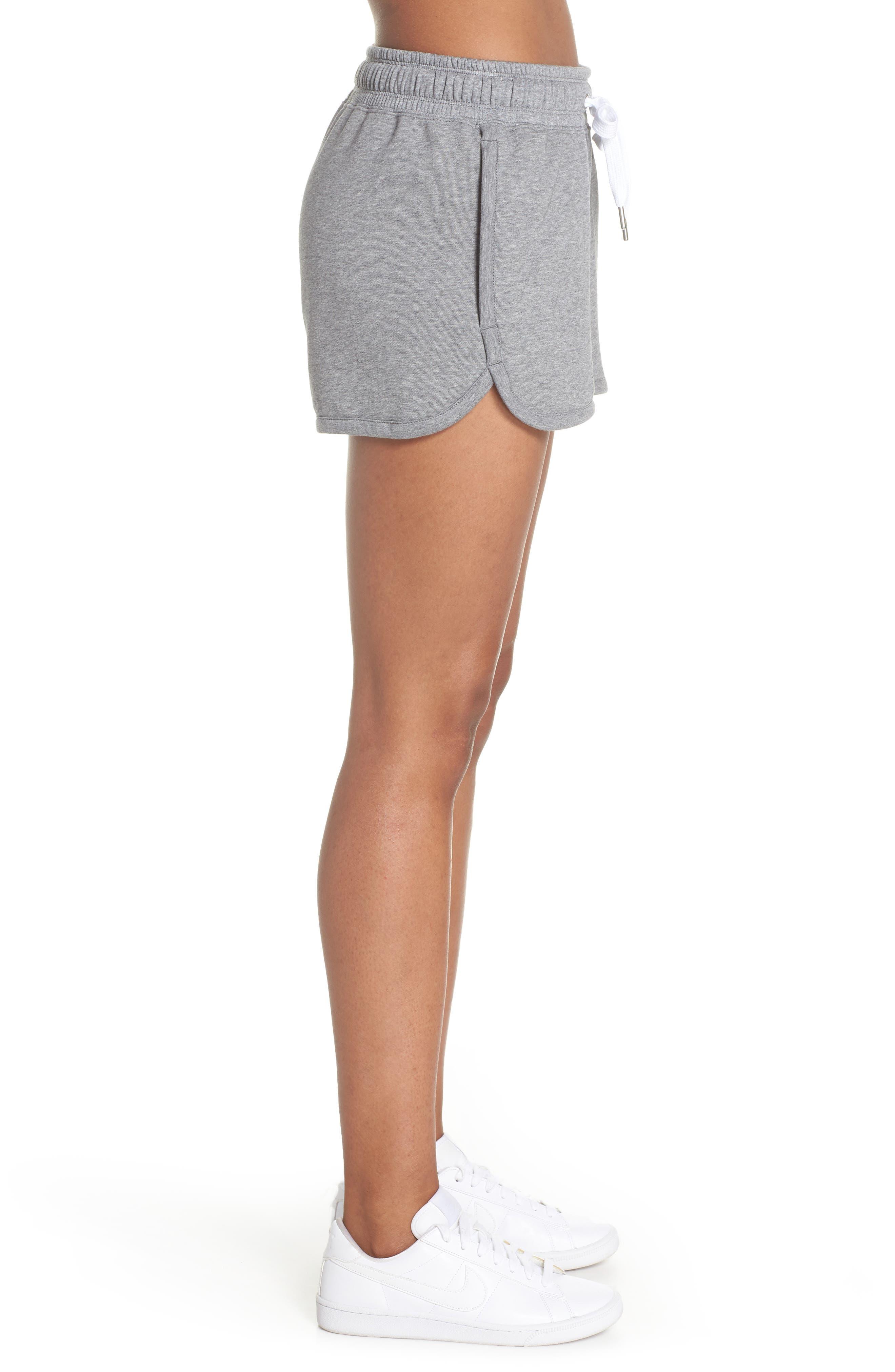Sportswear Air Gym Shorts,                             Alternate thumbnail 3, color,                             Carbon Heather/ White/ Black