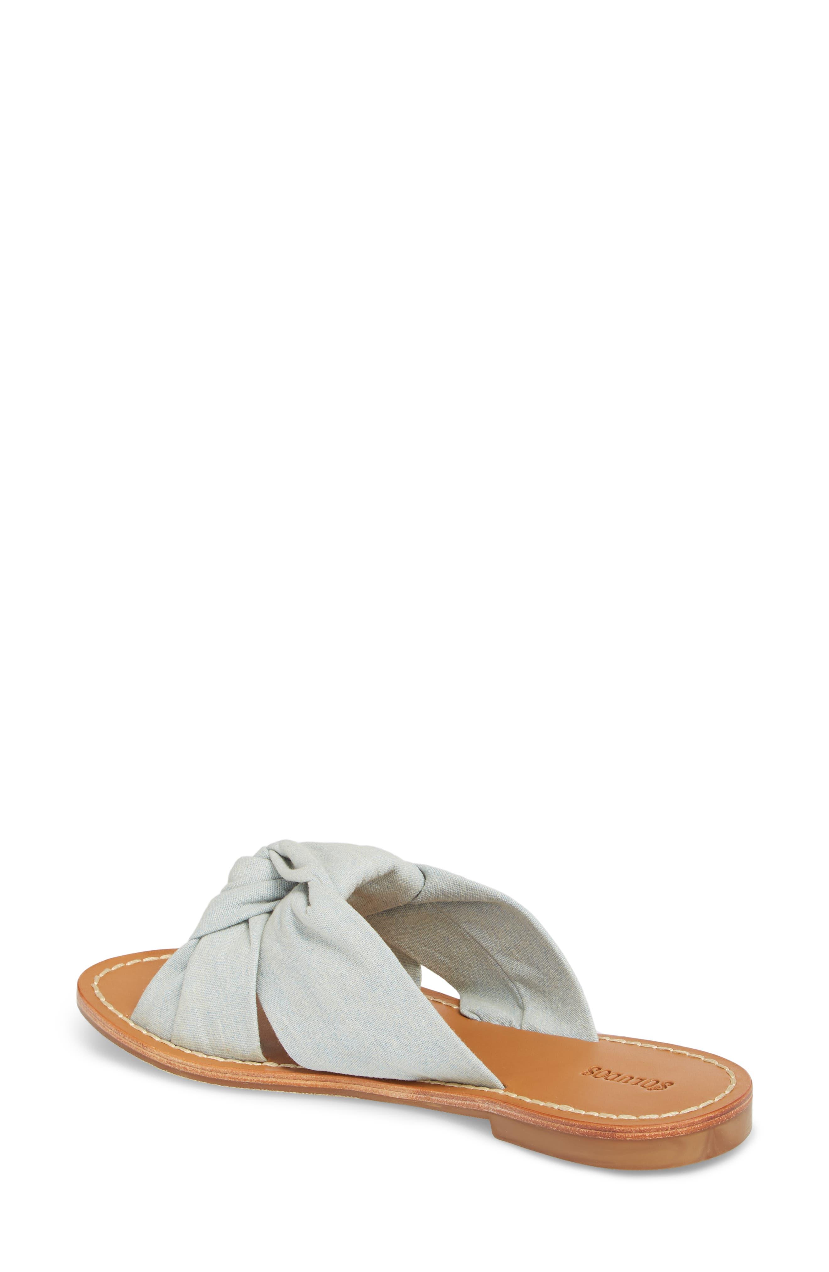 Knotted Slide Sandal,                             Alternate thumbnail 2, color,                             Chambray