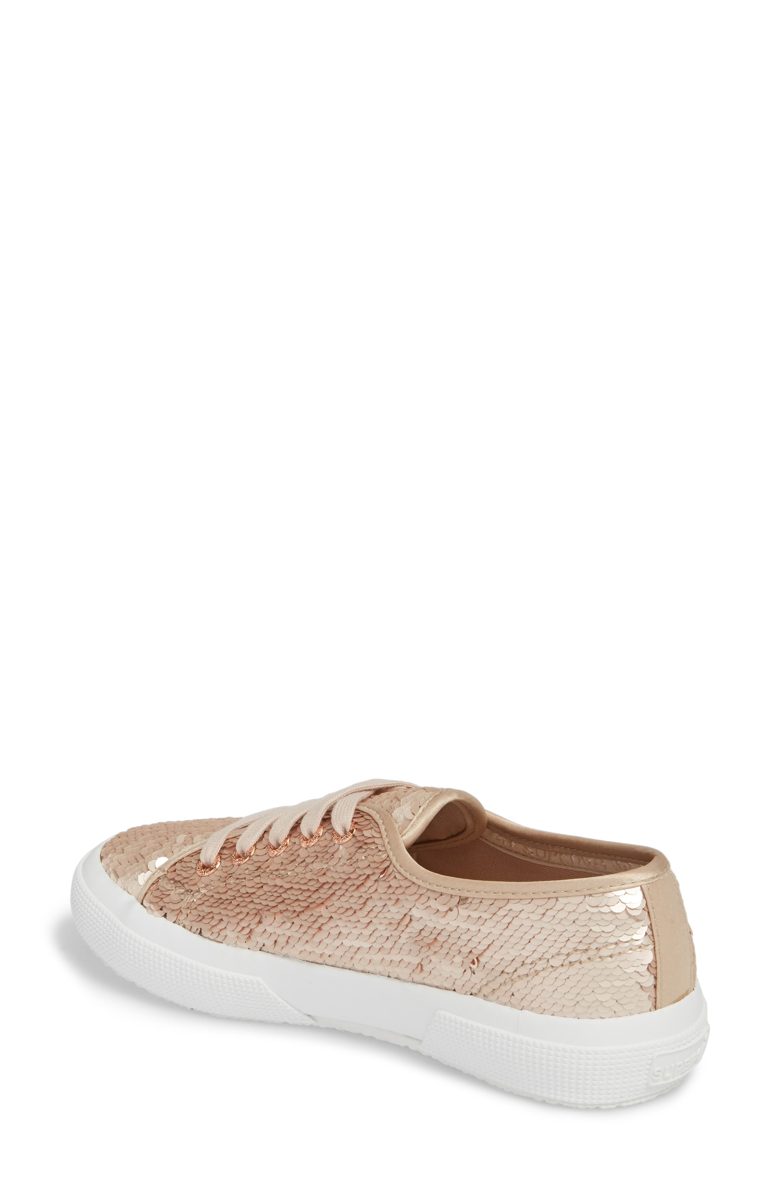 2750 Pairidescent Low Top Sneaker,                             Alternate thumbnail 2, color,                             Rose Gold/ Rose Gold