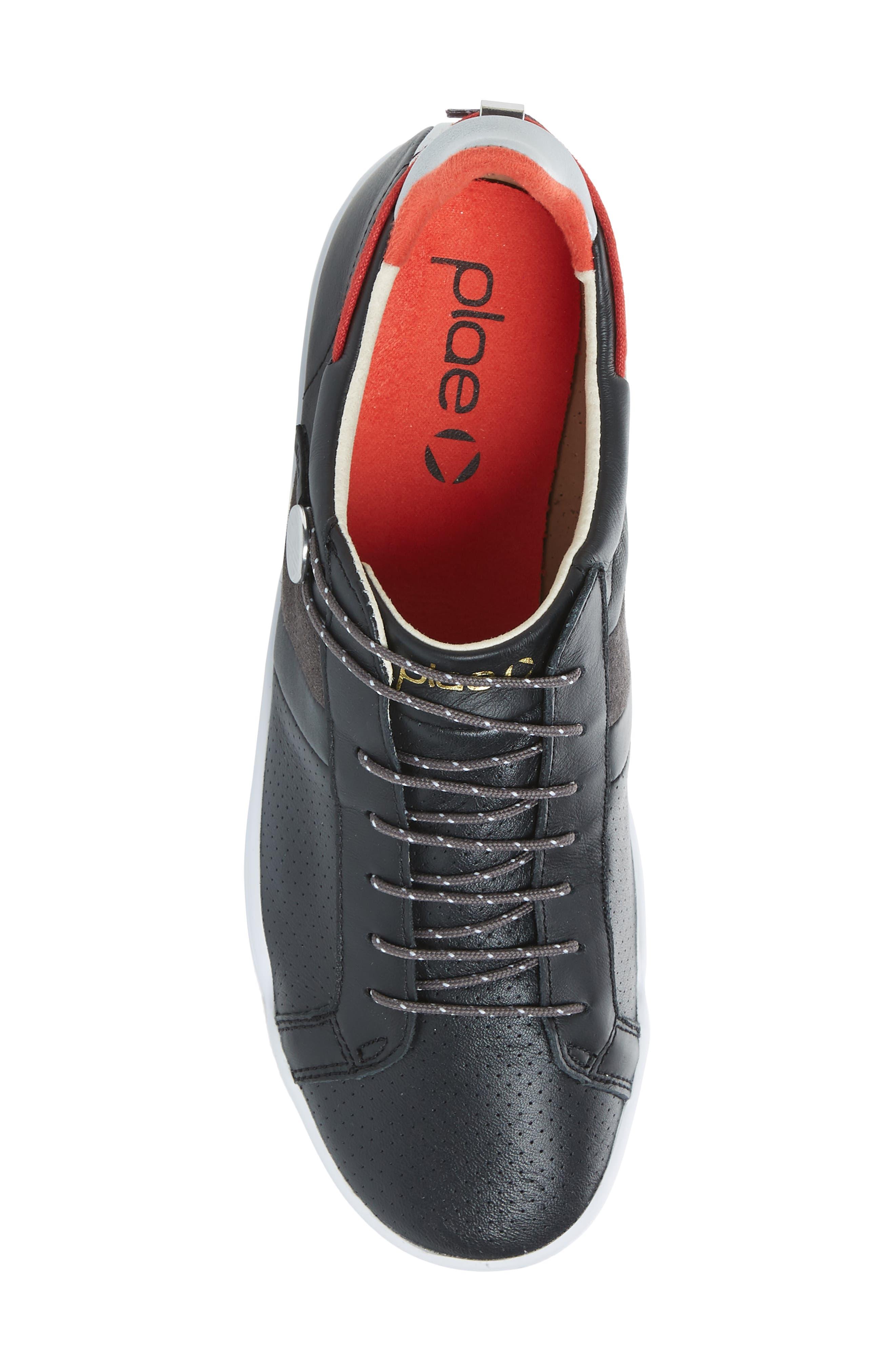 Mulberry Low Top Sneaker,                             Alternate thumbnail 5, color,                             Black