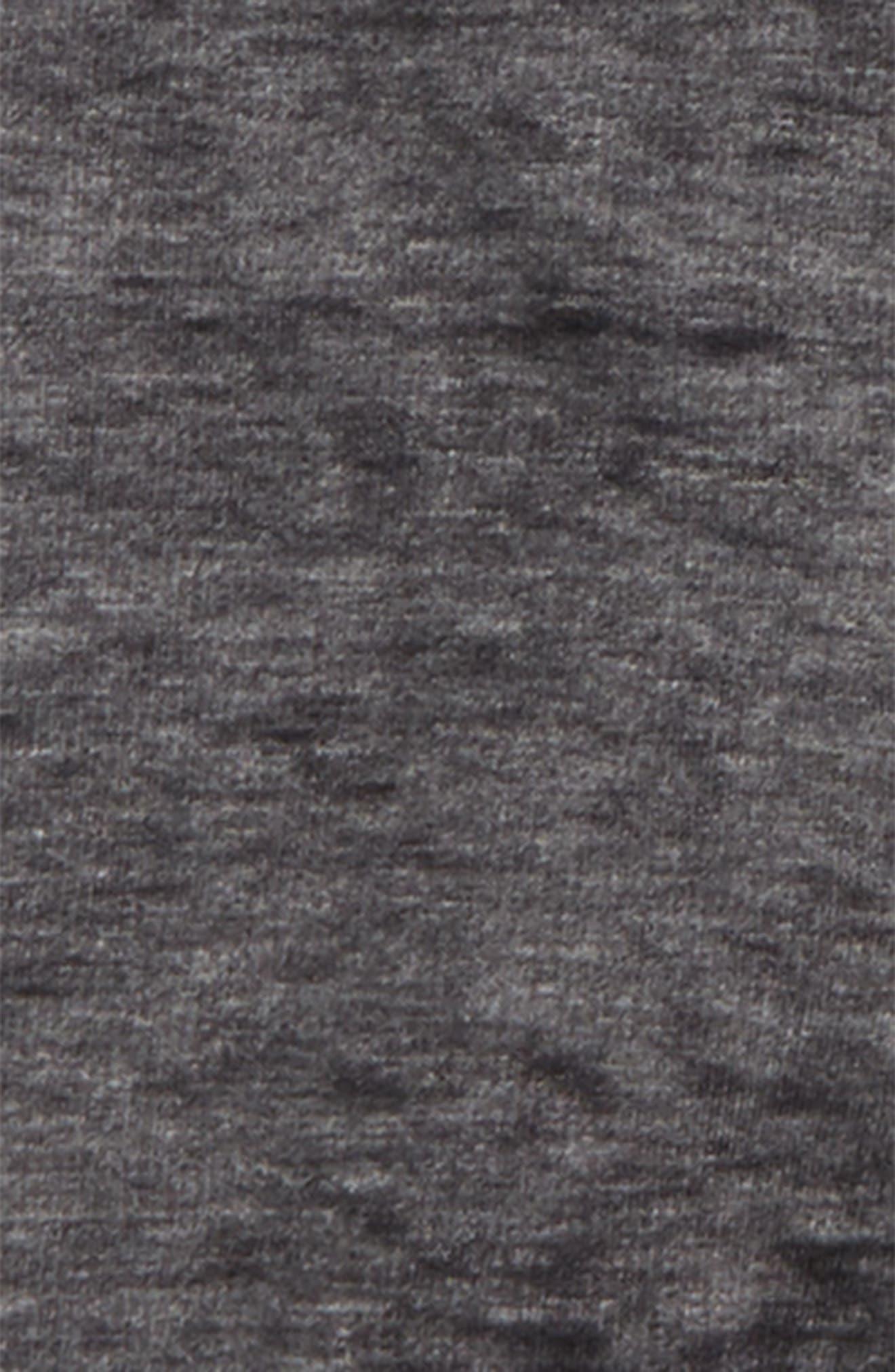 Zip Fleece Hoodie,                             Alternate thumbnail 2, color,                             Black Raven