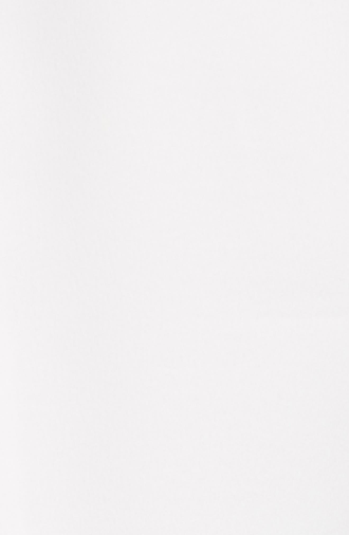 Embellished Neck Cold Shoulder Top,                             Alternate thumbnail 5, color,                             White