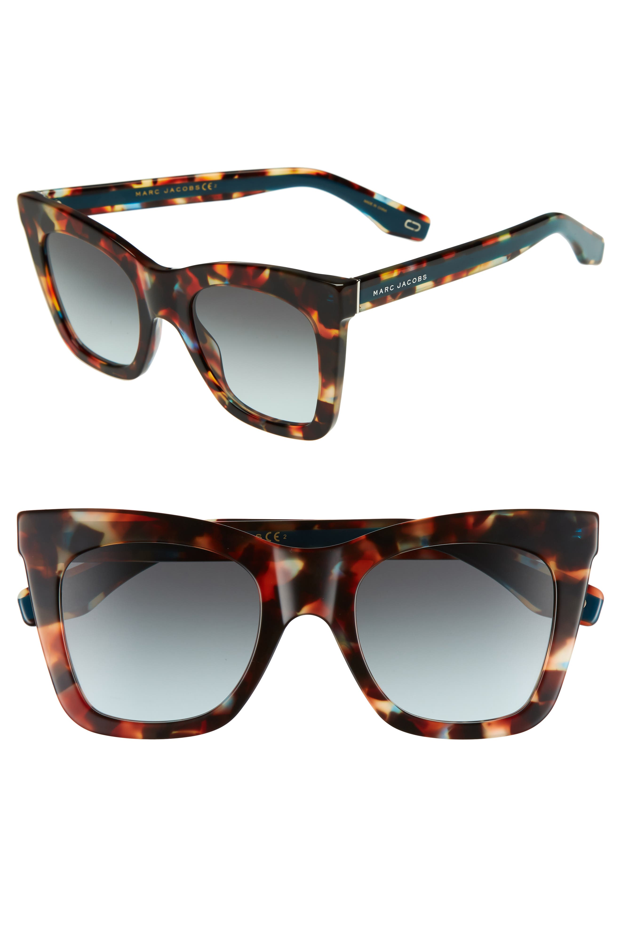 50mm Cat Eye Sunglasses,                             Main thumbnail 1, color,                             Havnturqu