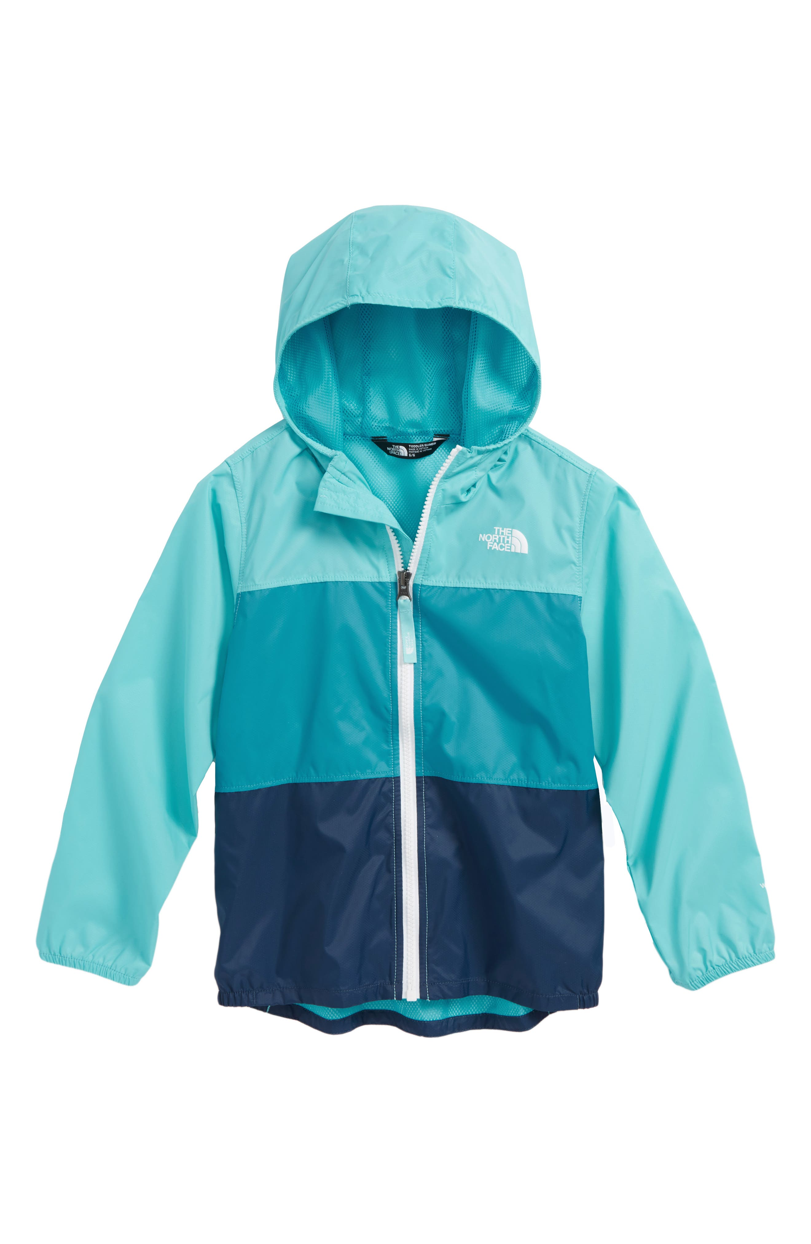 Flurry Water & Wind Repellant Nylon Jacket,                         Main,                         color, Blue Curacao