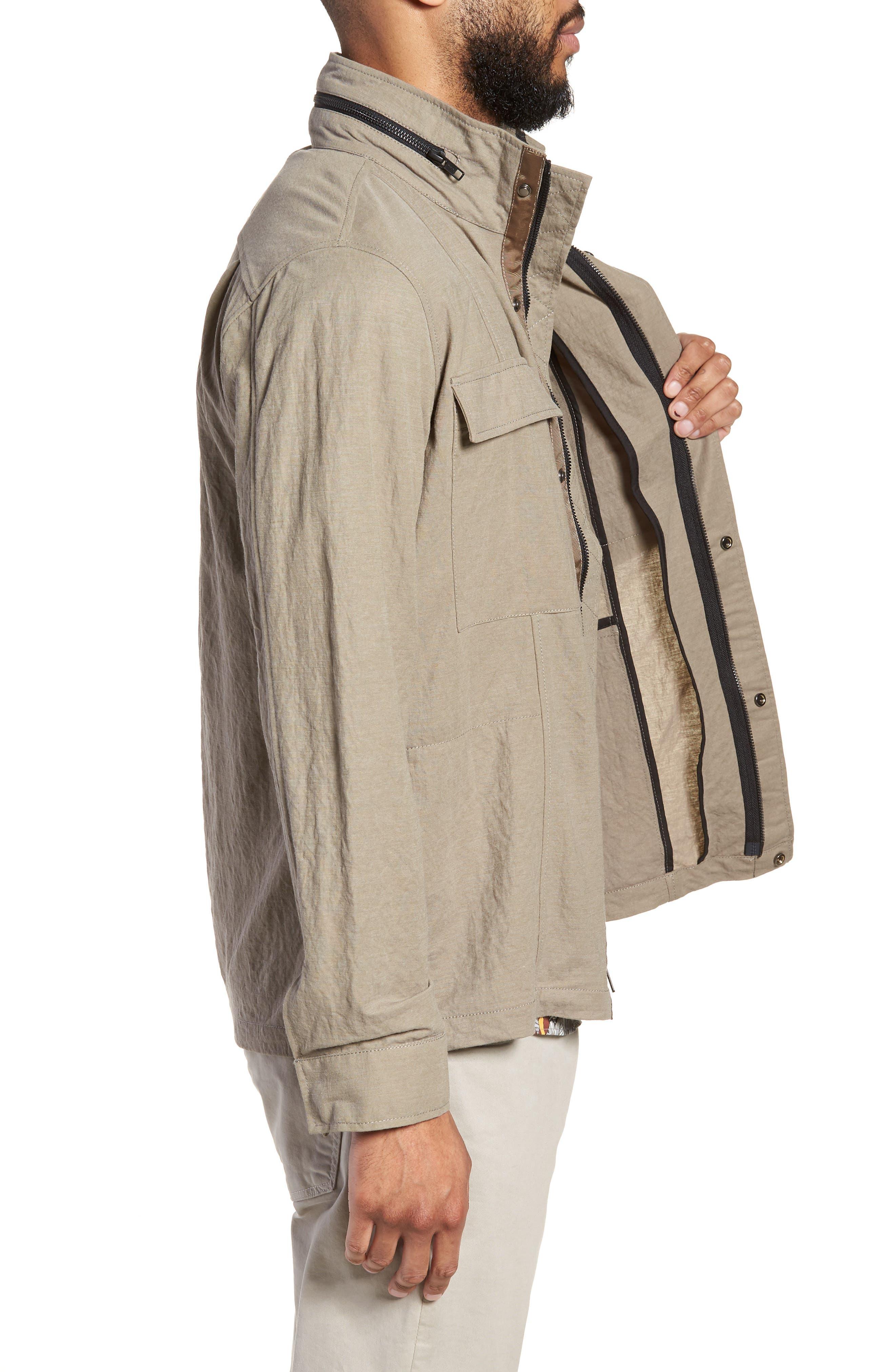 Trim Fit Jacket,                             Alternate thumbnail 3, color,                             Taupe